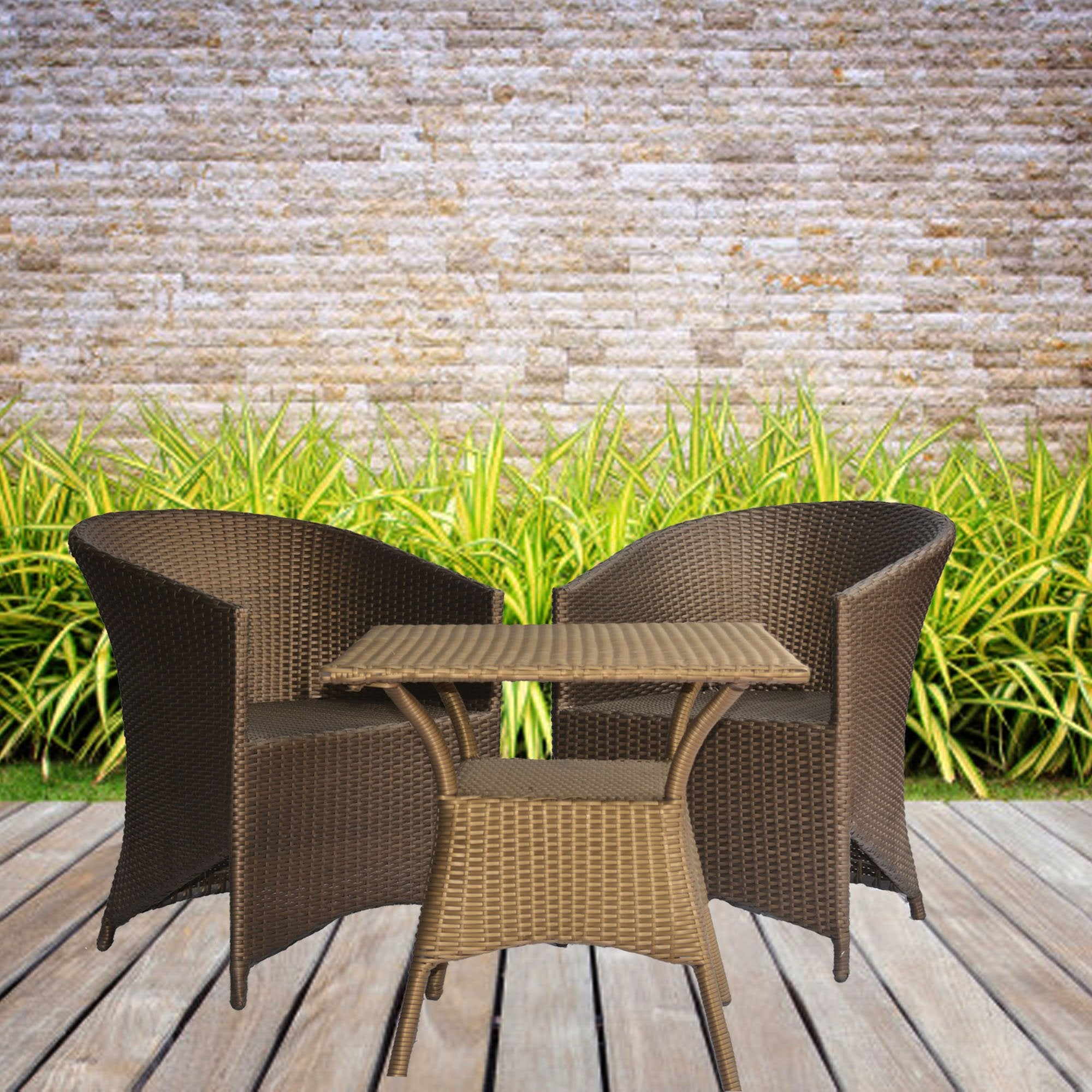 Outdoor Patio Set in Brown Color