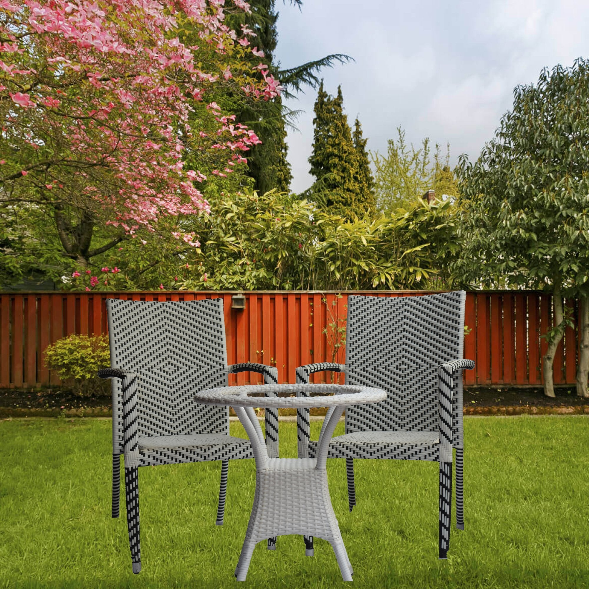 Diamond Pattern Outdoor Furniture Set