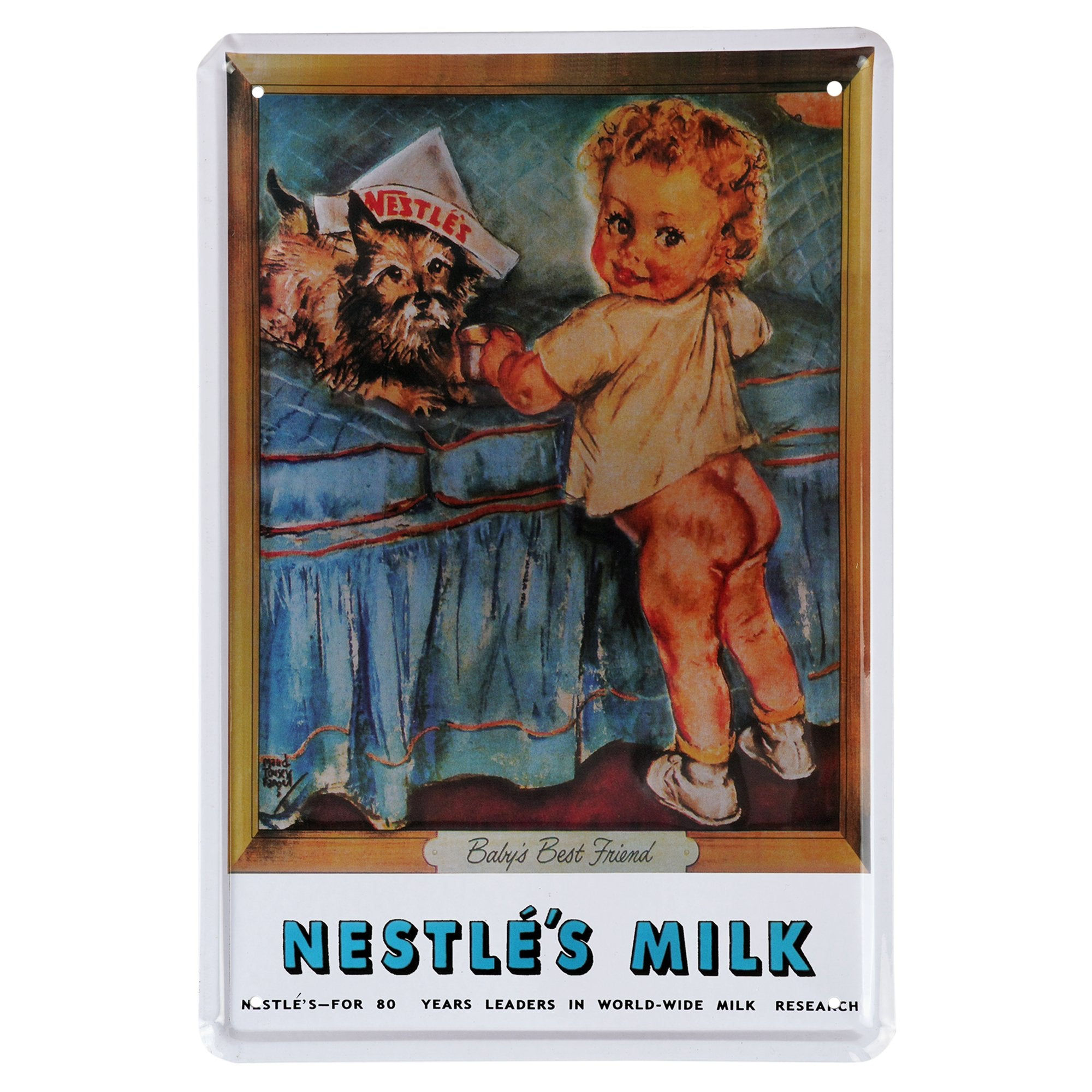 Nestle's Milk Wall Plaque - Teak Tale