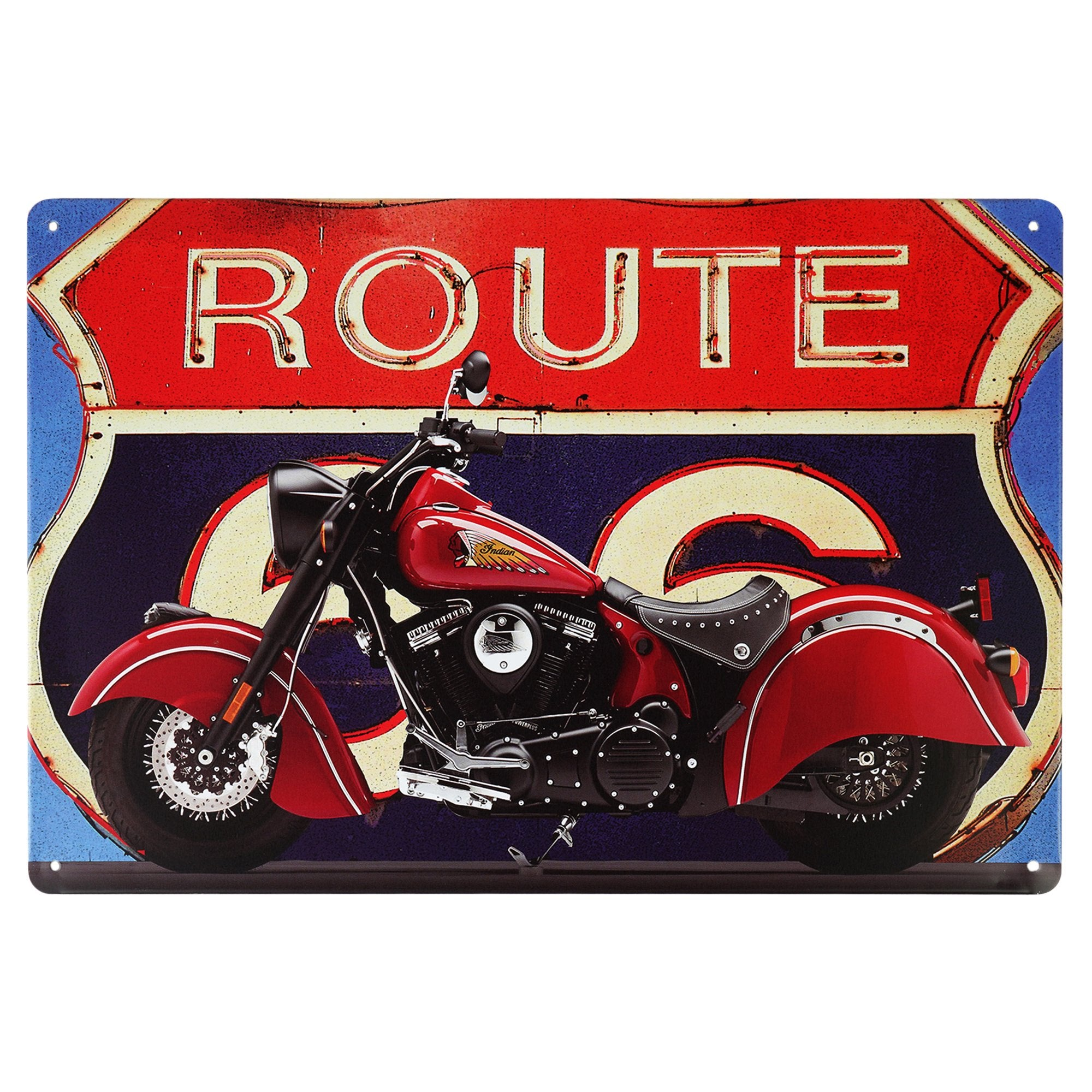 U.S. Route 66 Wall Plaque - Teak Tale
