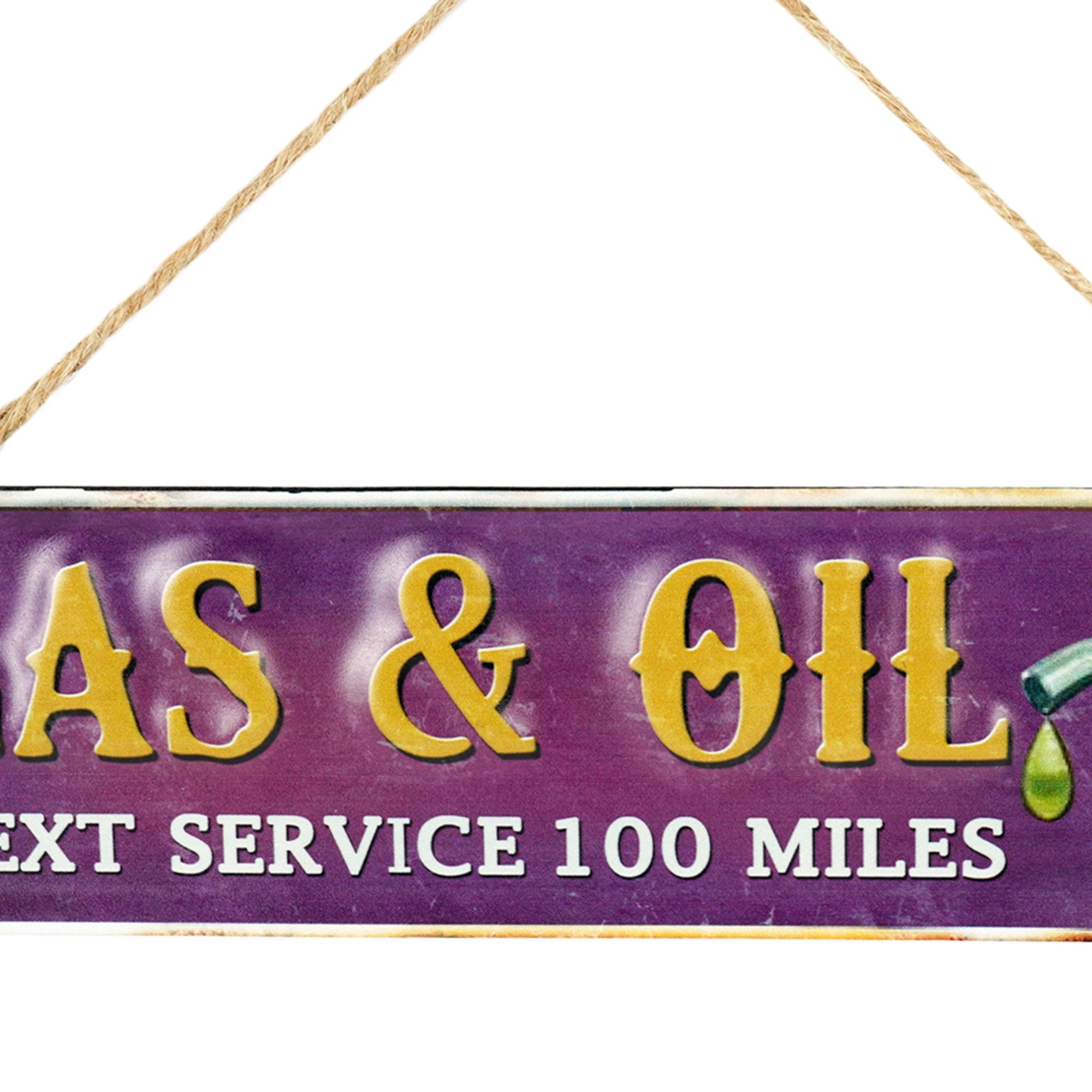 Gas & Oil Wall Plaque