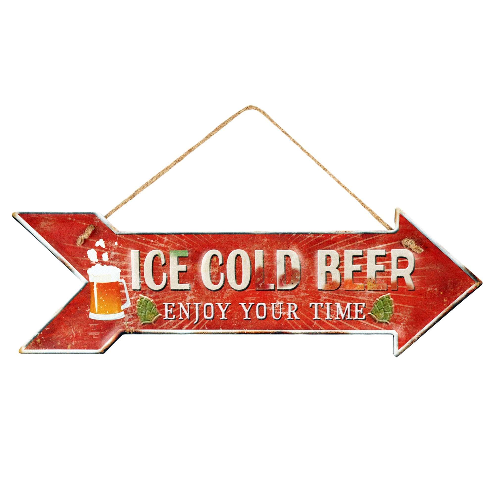 Ice Cold Beer Wall Plaque - Teak Tale