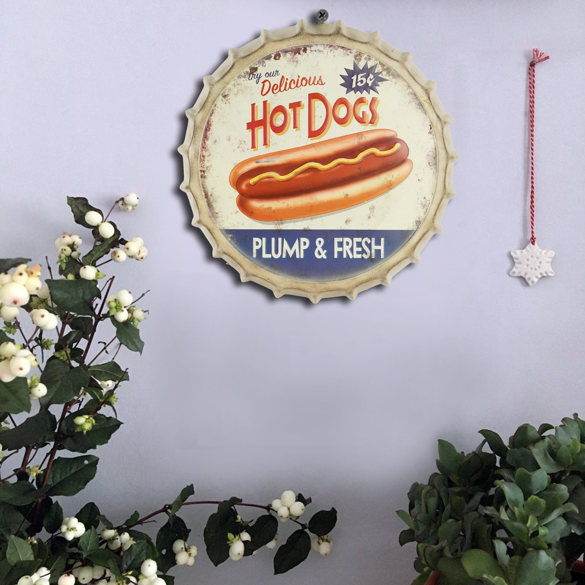 Hot Dogs Wall Cap - Teak Tale