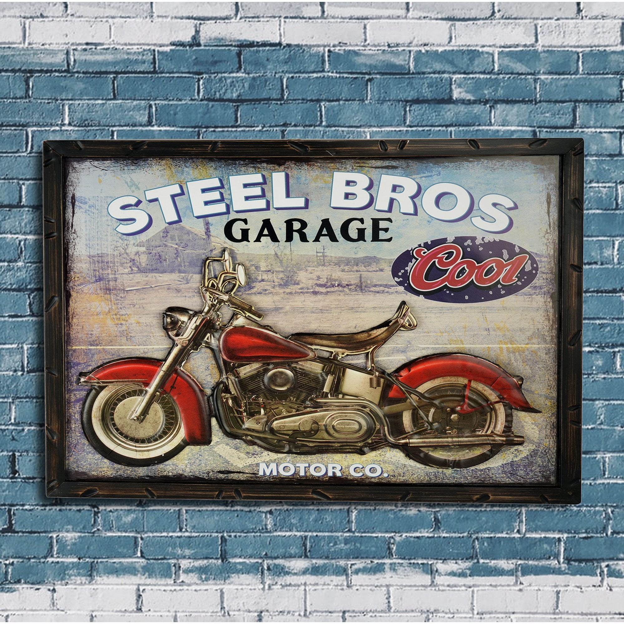 Steel Bros Wall Plaque - Teak Tale