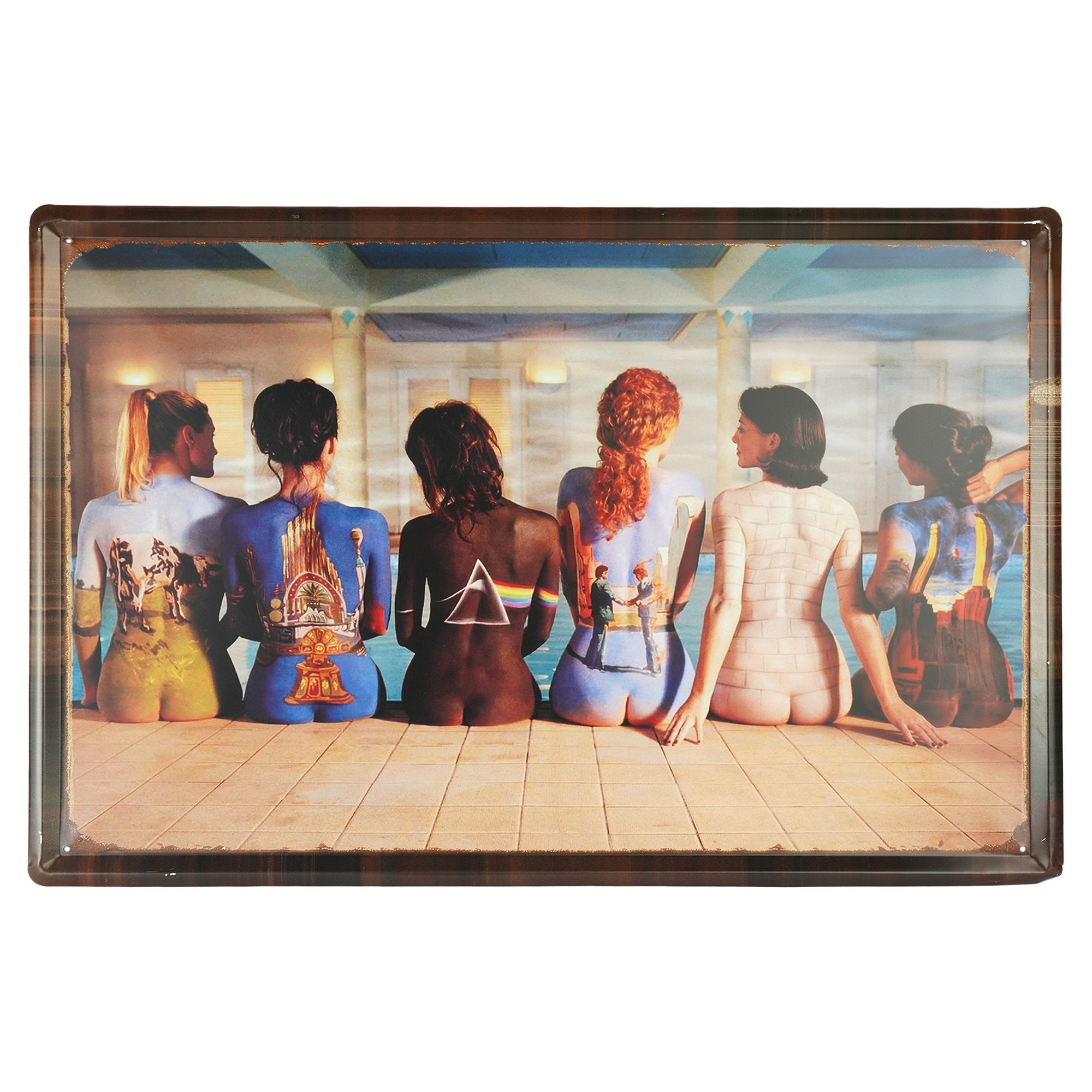 Pink Floyed Album Covers Wall Plaque - Teak Tale
