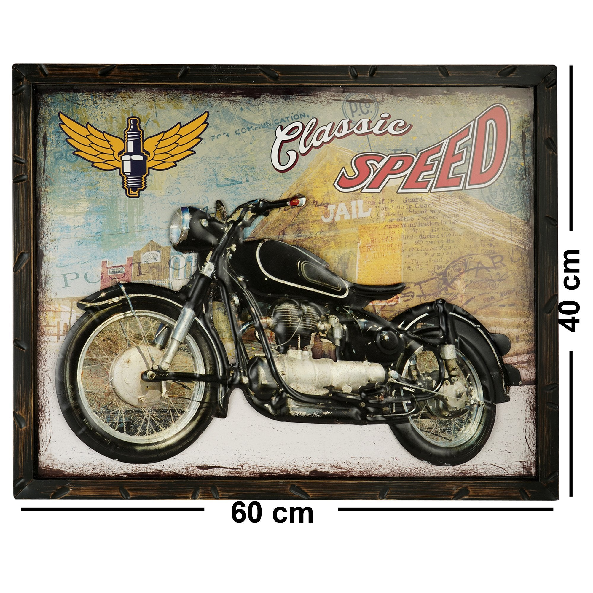 Classic Speed Wall Plaque - Teak Tale