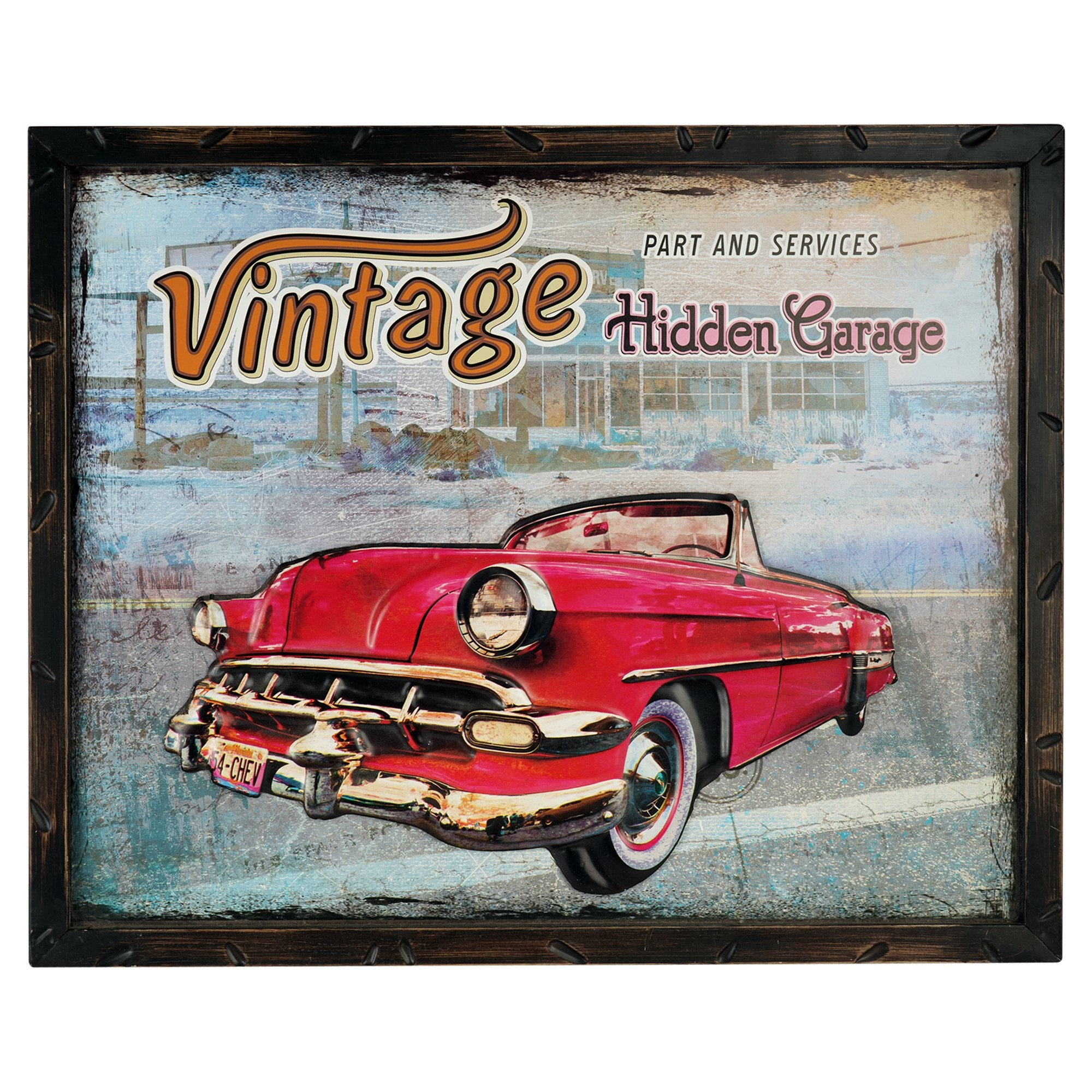 Hidden Garage Wall Plaque - Teak Tale