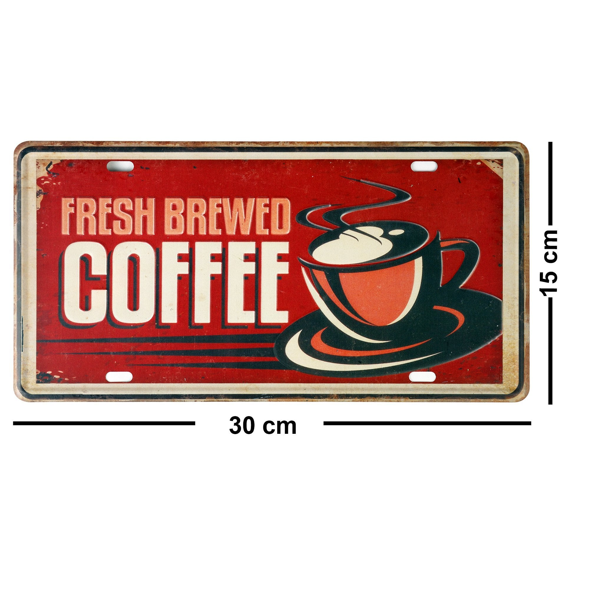 Fresh Brewed Coffee Wall Plaque