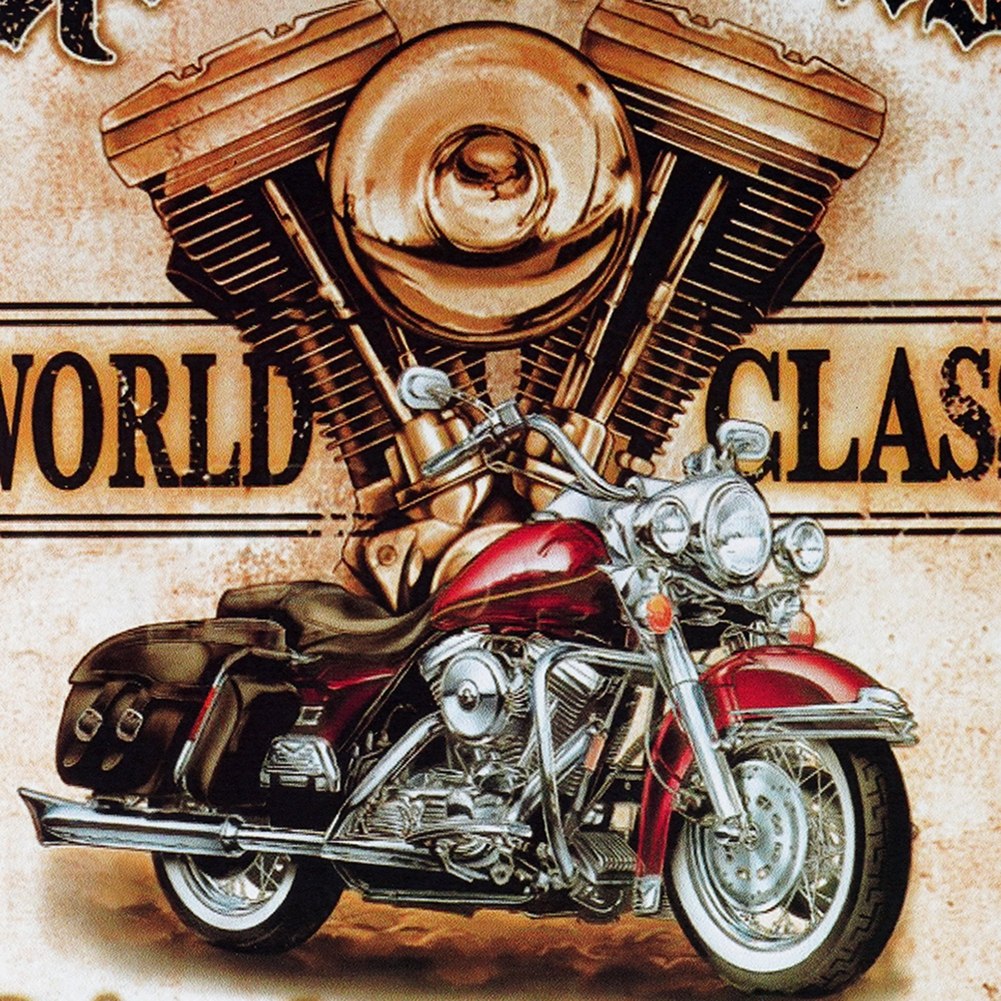 Road Works Motorcycles Wall Plaque