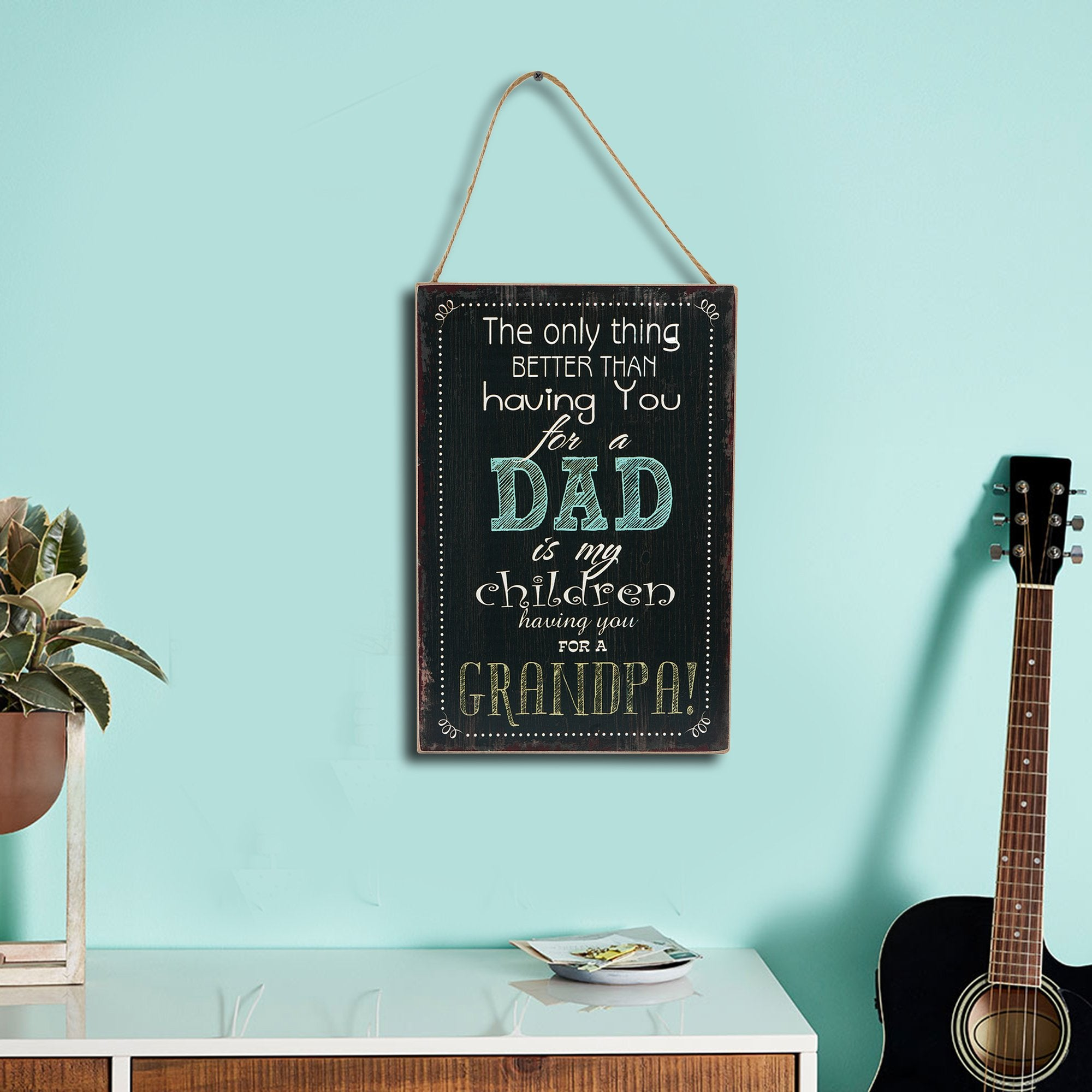 Dad Wall Plaque - Teak Tale
