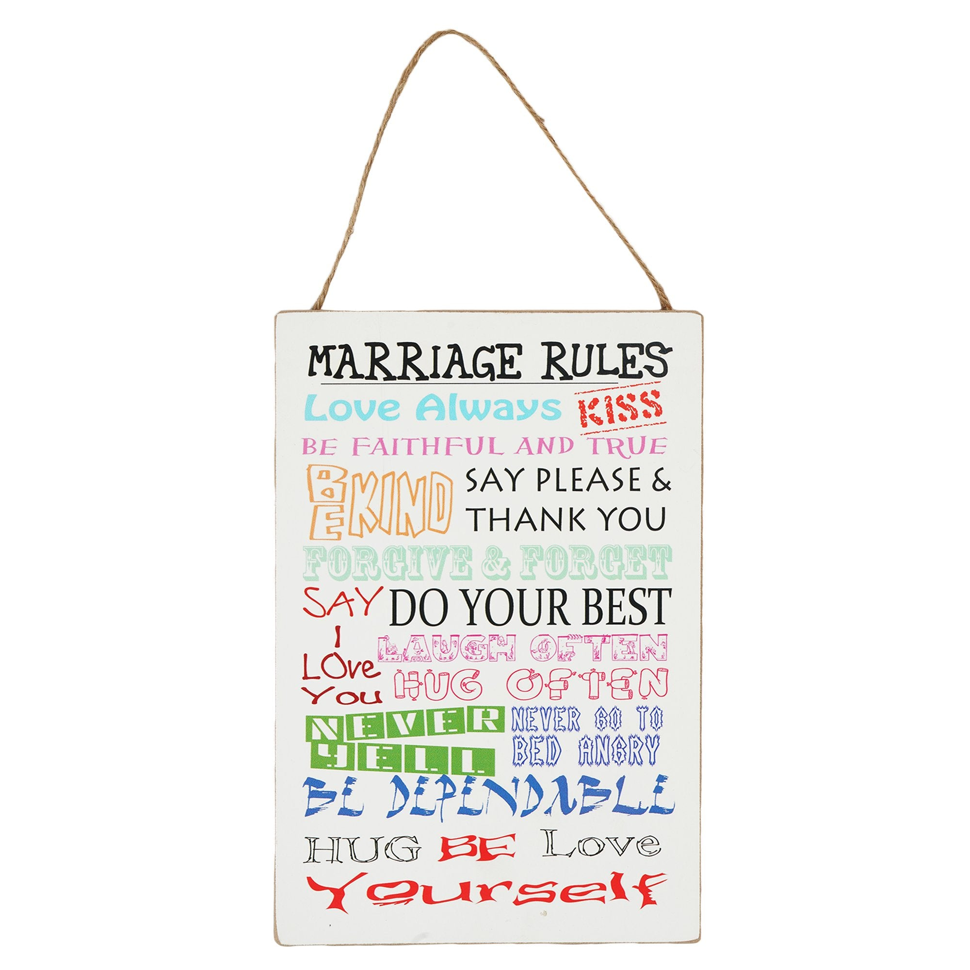 Marriage Rules Wall Plaque