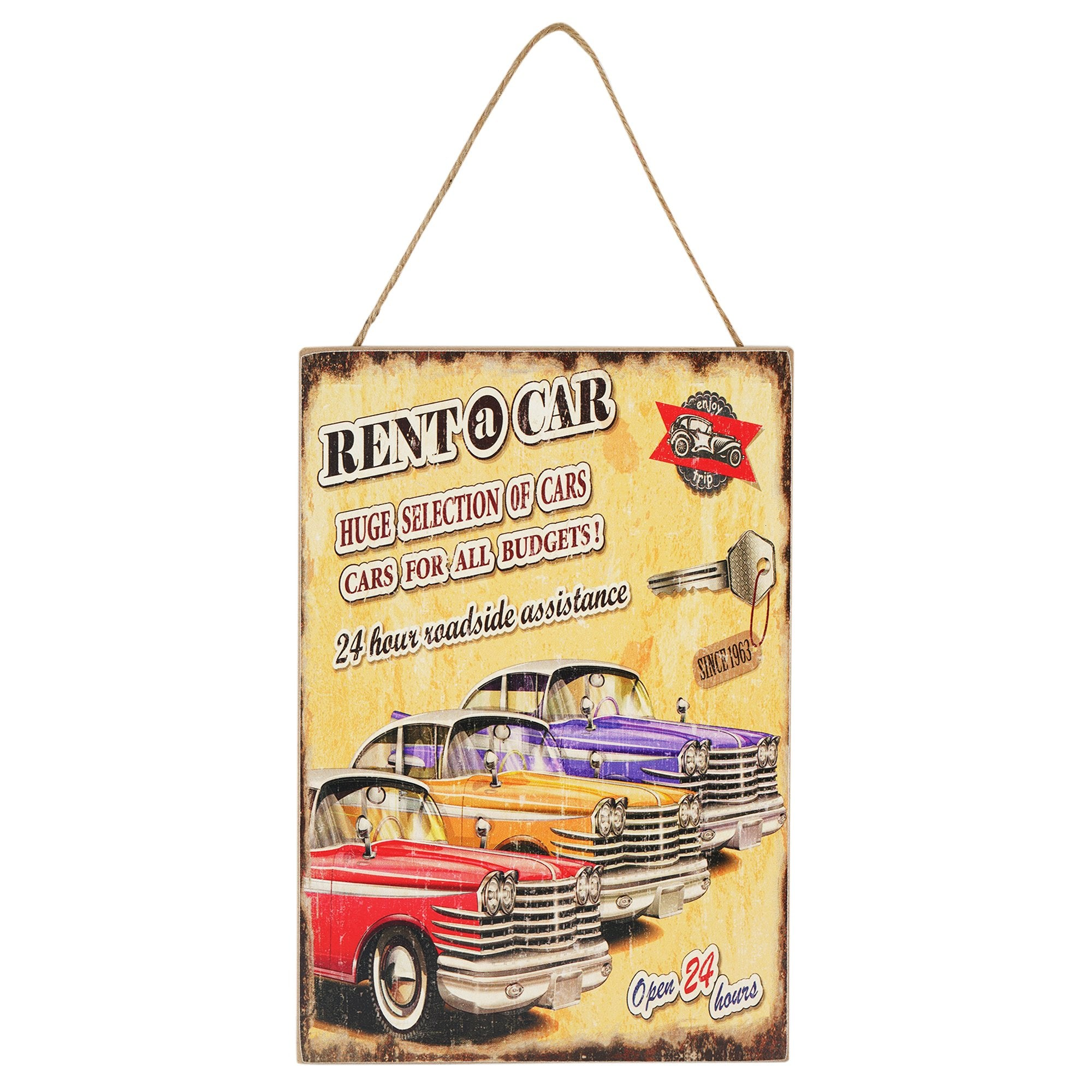 Rent-a-Car Wall Hanging - Teak Tale