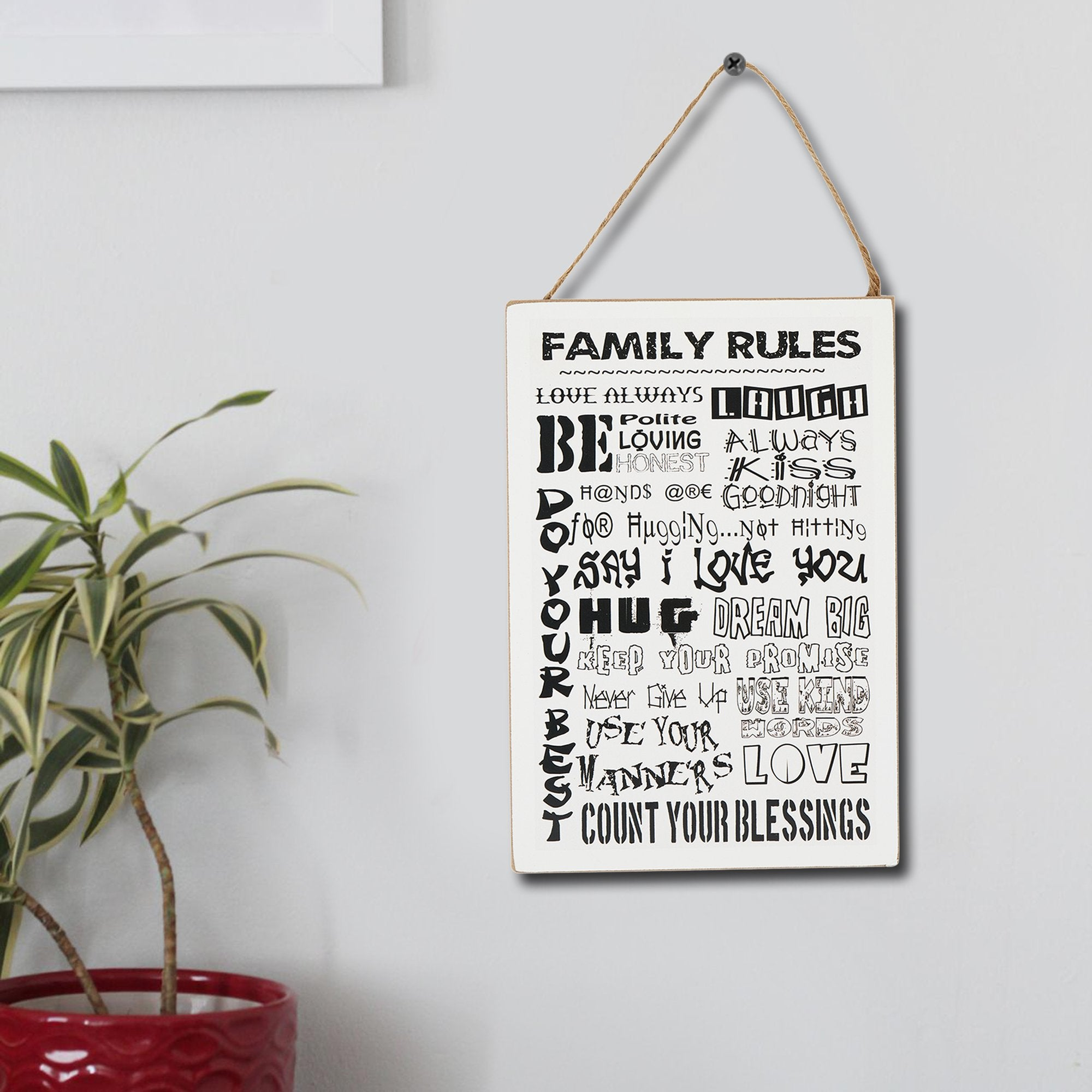 Family Rules Wall Hanging