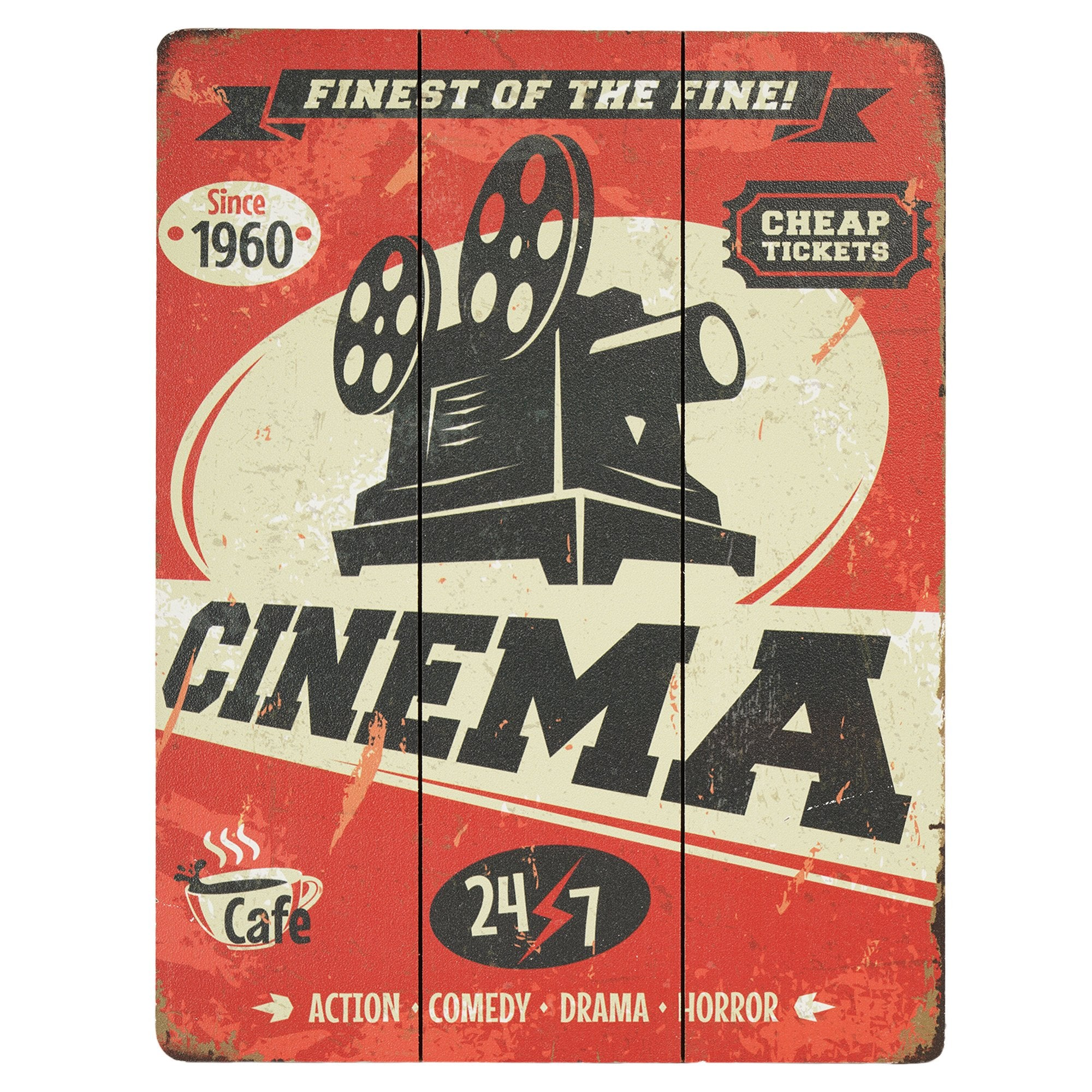 Cinema Wall Plaque - Teak Tale