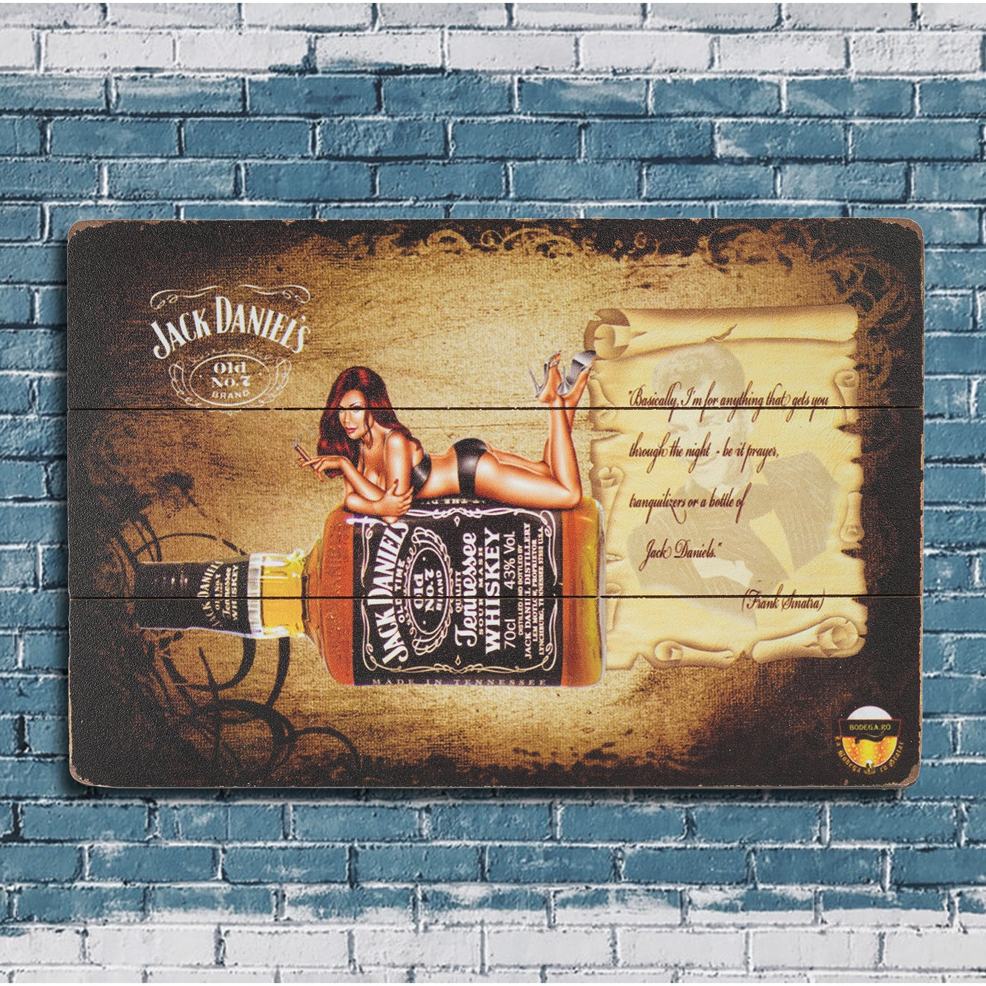 Jack D's Wall Plaque