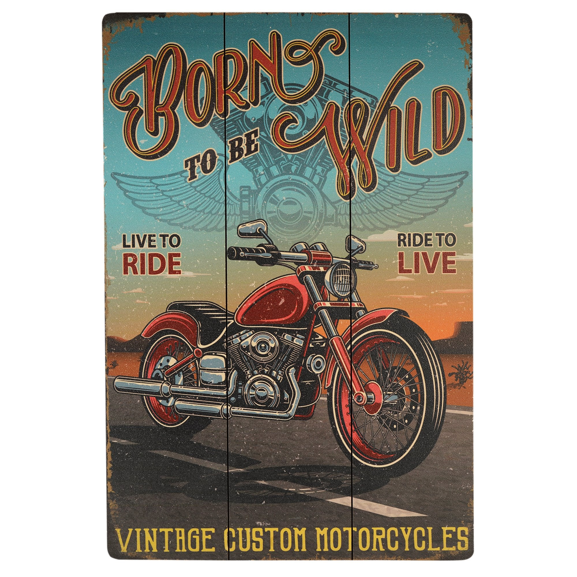 Born to be Wild Wall Plaque - Teak Tale