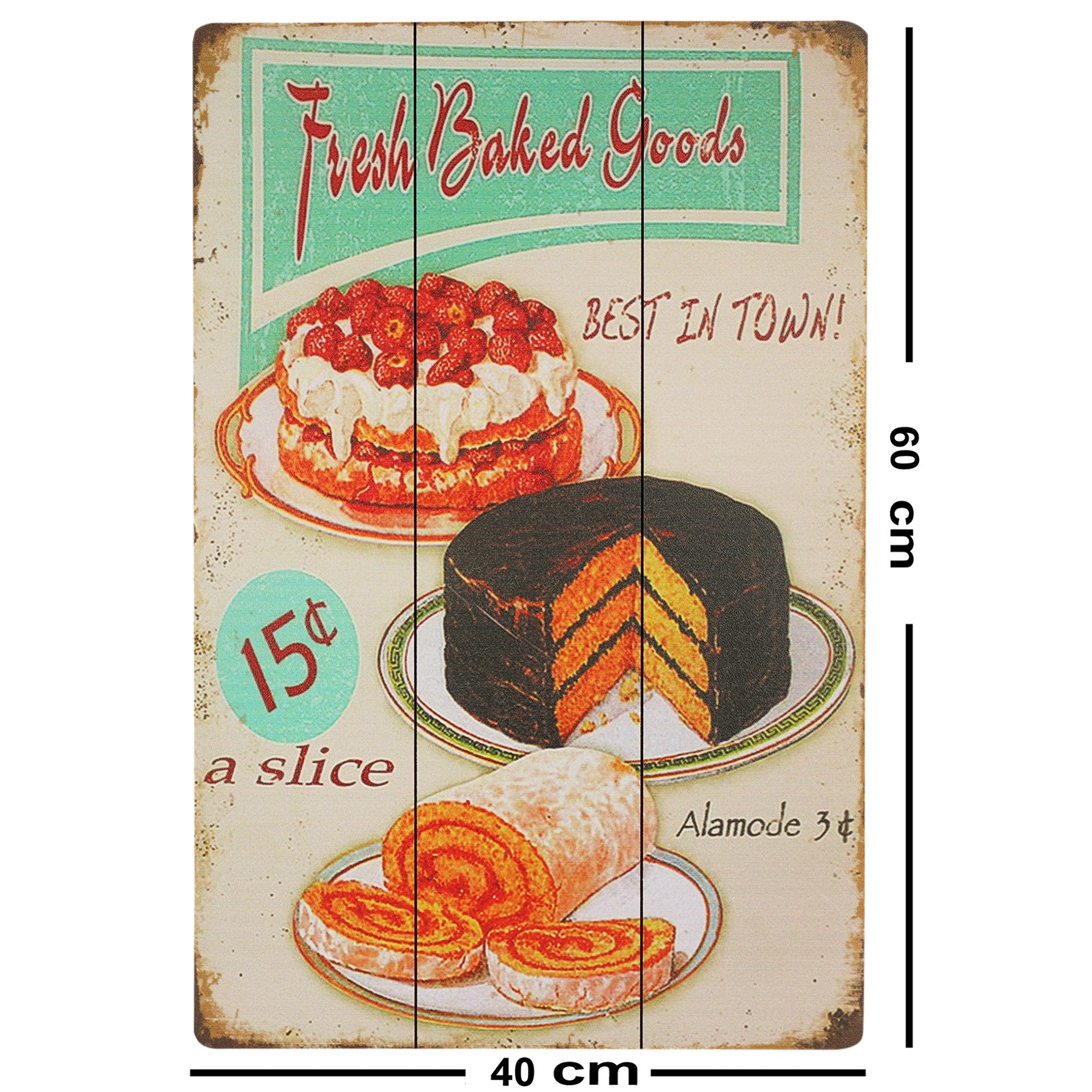 Baked Goods Wall Plaque - Teak Tale