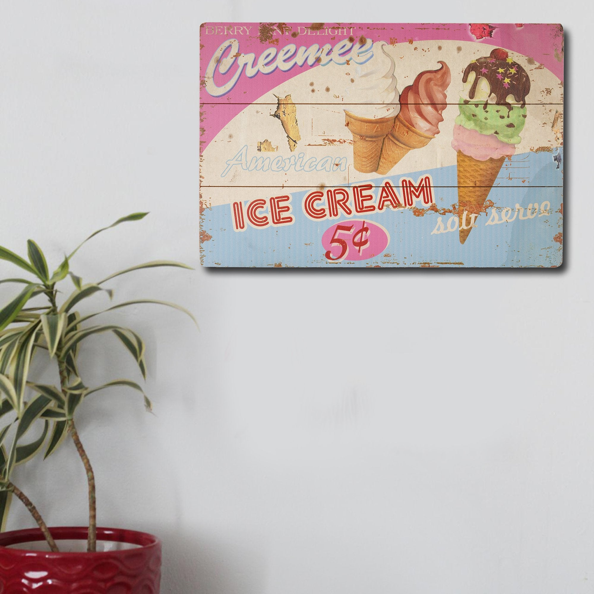 American Ice Cream Wall Plaque - Teak Tale