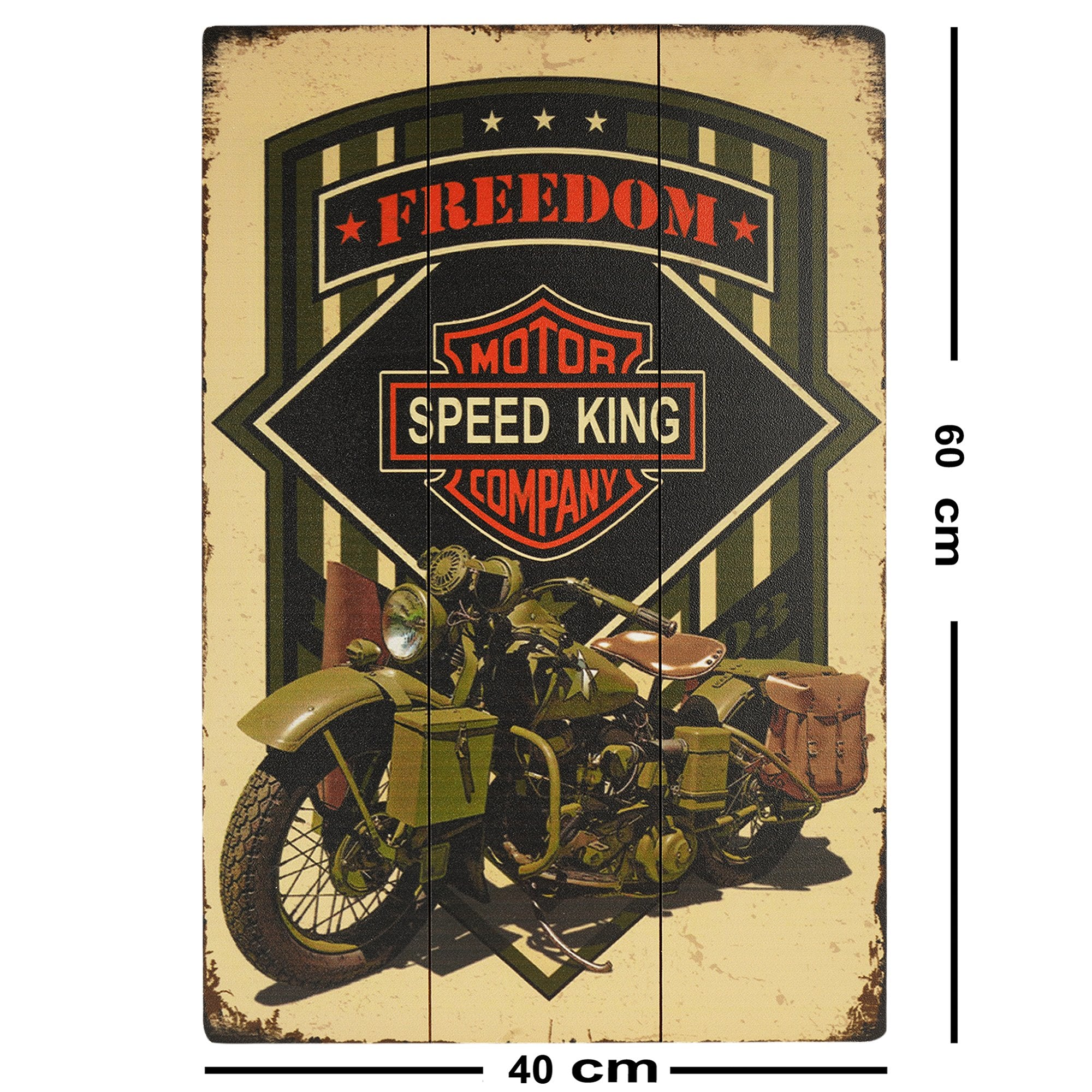 Freedom Motorcycle Wall Plaque - Teak Tale