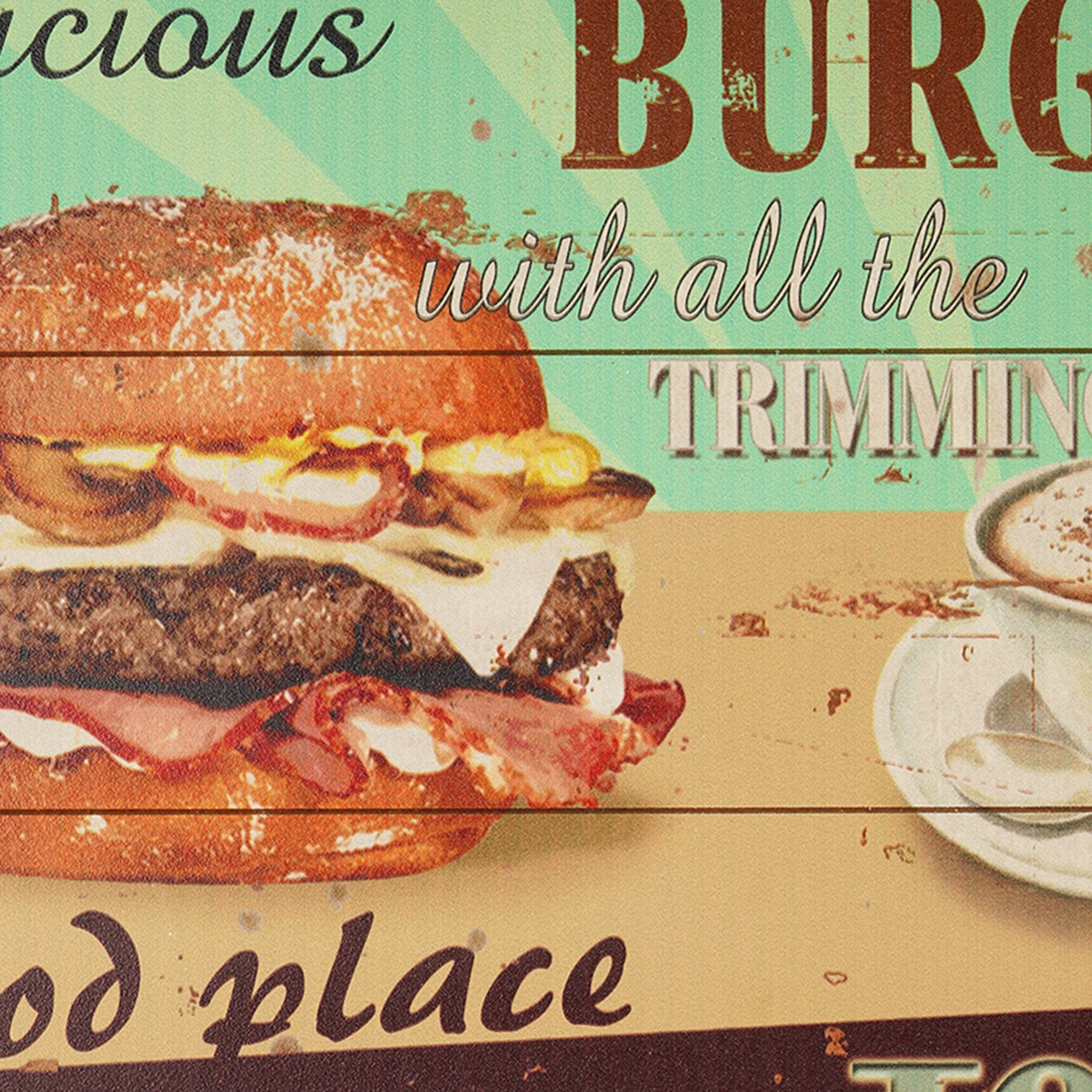 Burger Place Wall Plaque