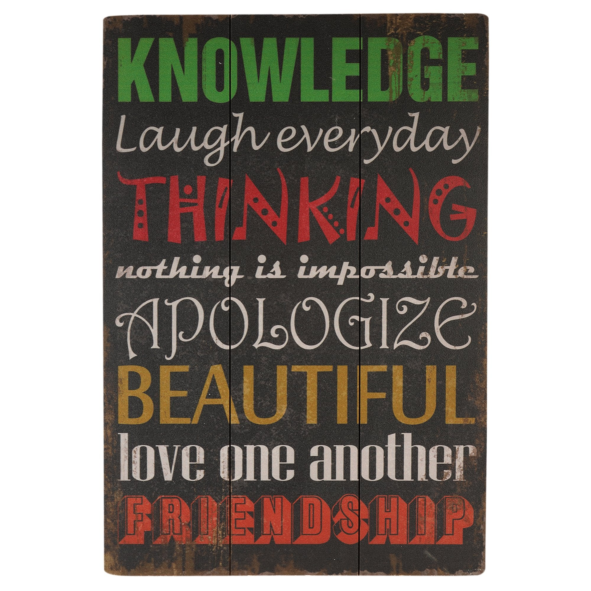 Knowledge Wall Plaque