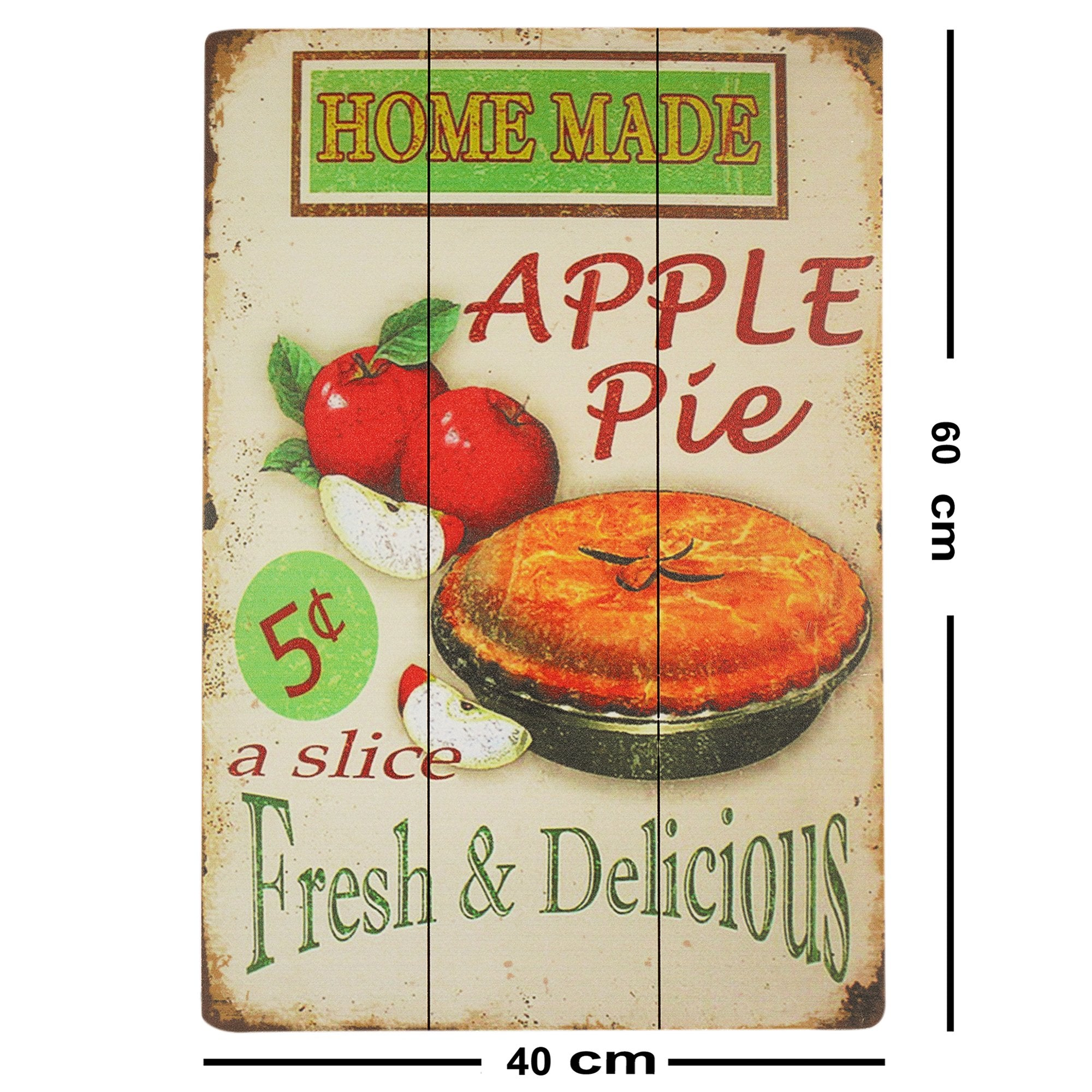 Apple Pie Wall Plaque