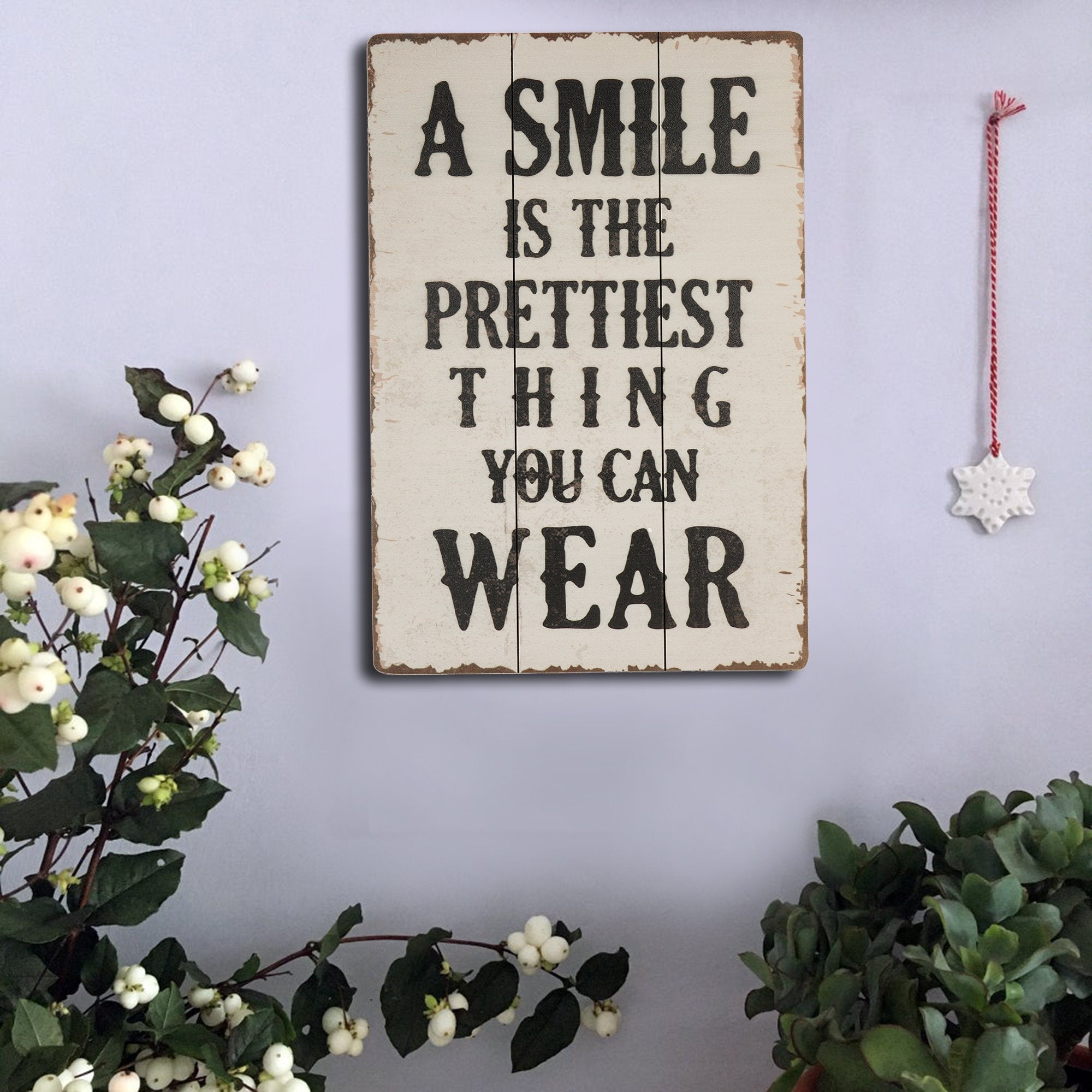 Smile Wall Plaque - Teak Tale