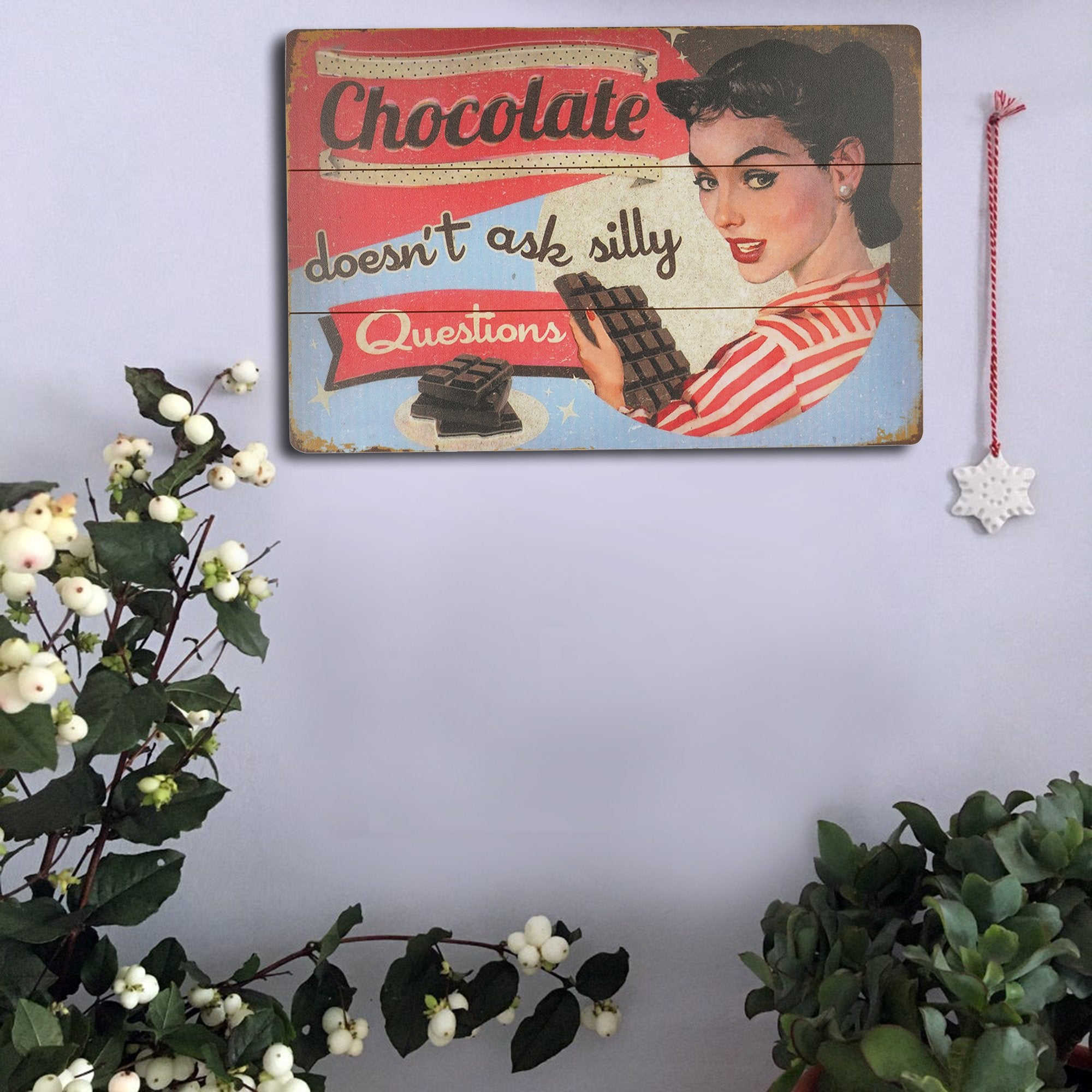 Chocolate Wall Plaque from Teak Tale Home Decors