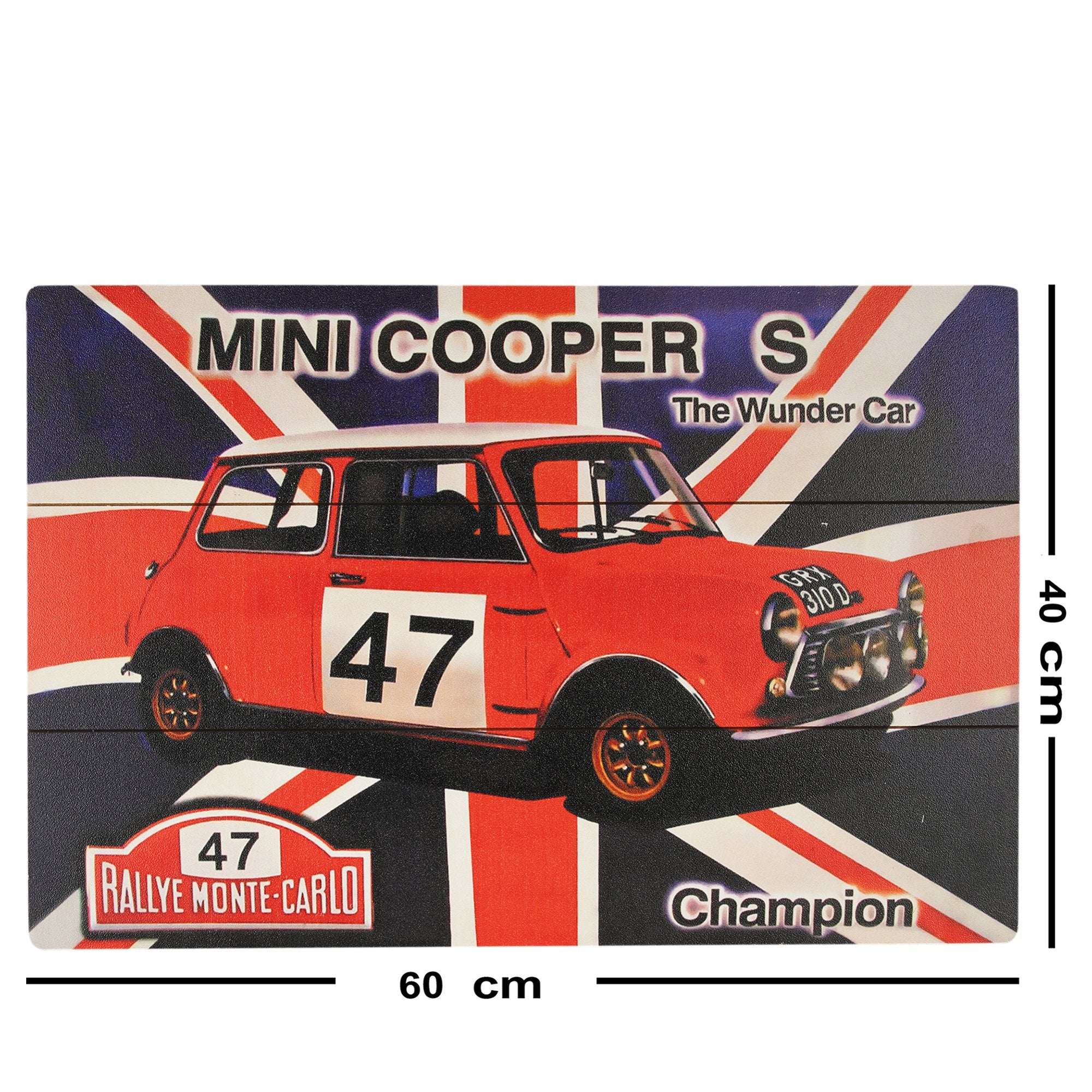 Mini Cooper Wall Plaque - Teak Tale