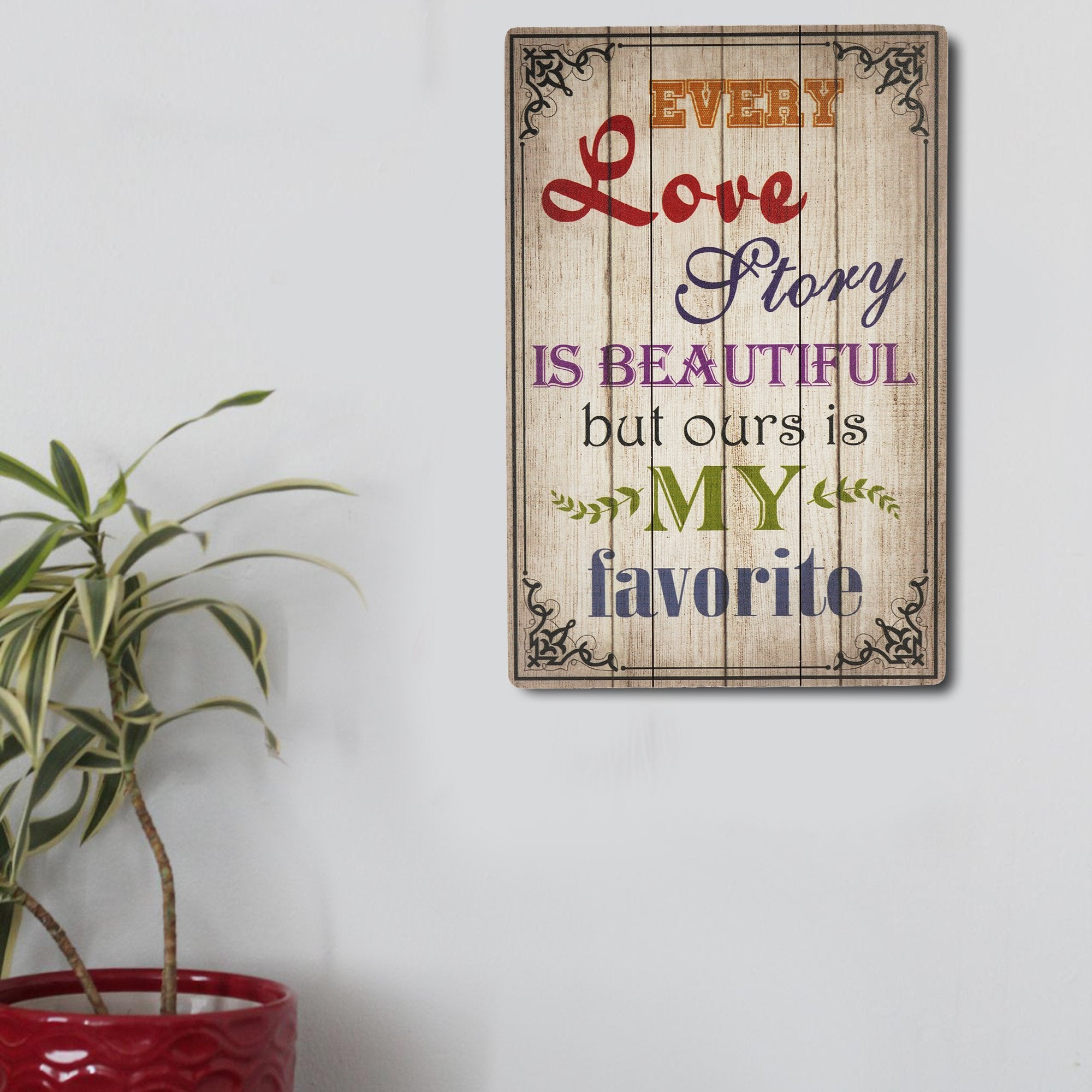 Love Story Wall Plaque from Teak Tale Home Decors