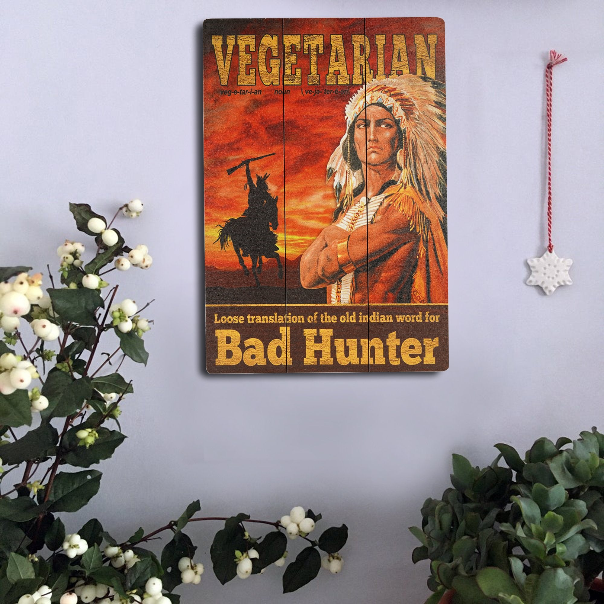 Vegetarian Wall Plaque from Teak Tale Home Decors