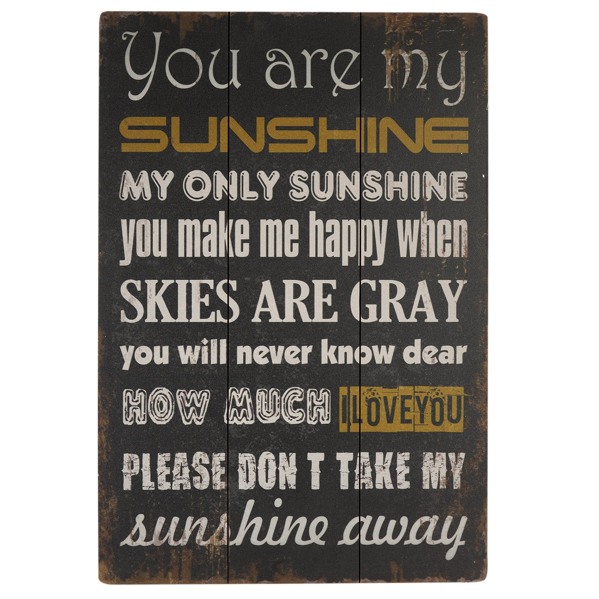Sunshine Wooden Wall Plaque from Teak Tale Home Decors