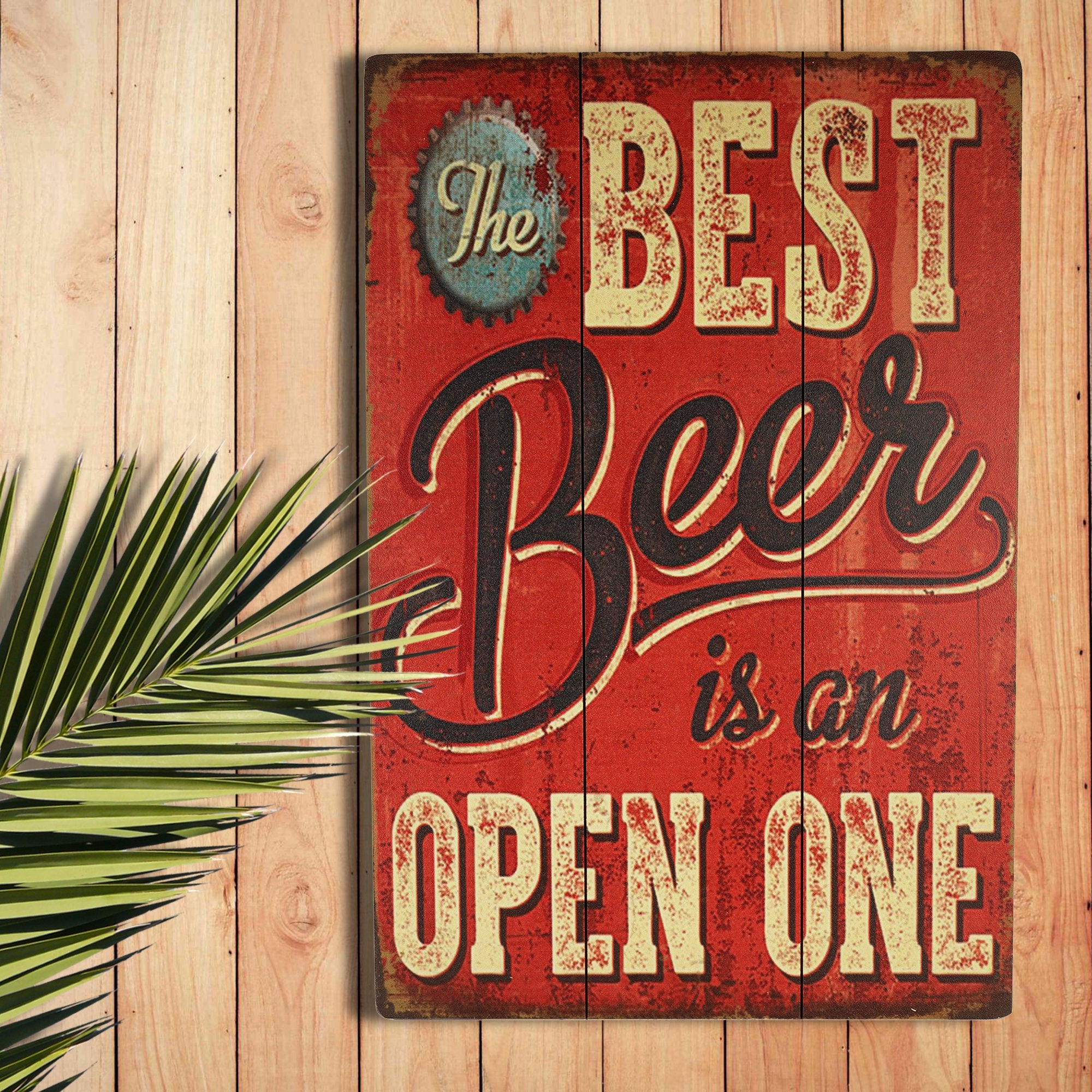 Best Beer Wall Plaque from Teak Tale Home Decors