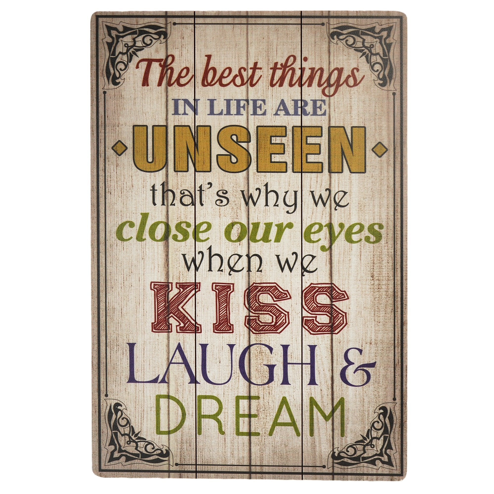 Best Things in Life Wall Plaque from Teak Tale Home Decors