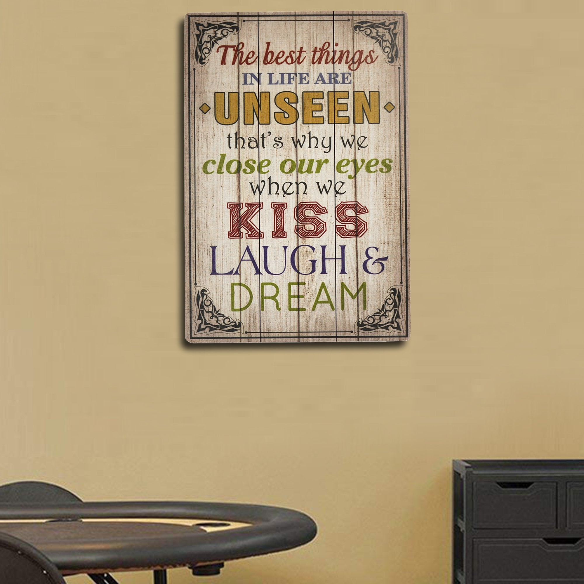 Best Things in Life Wall Plaque from TeakTale Home Decors