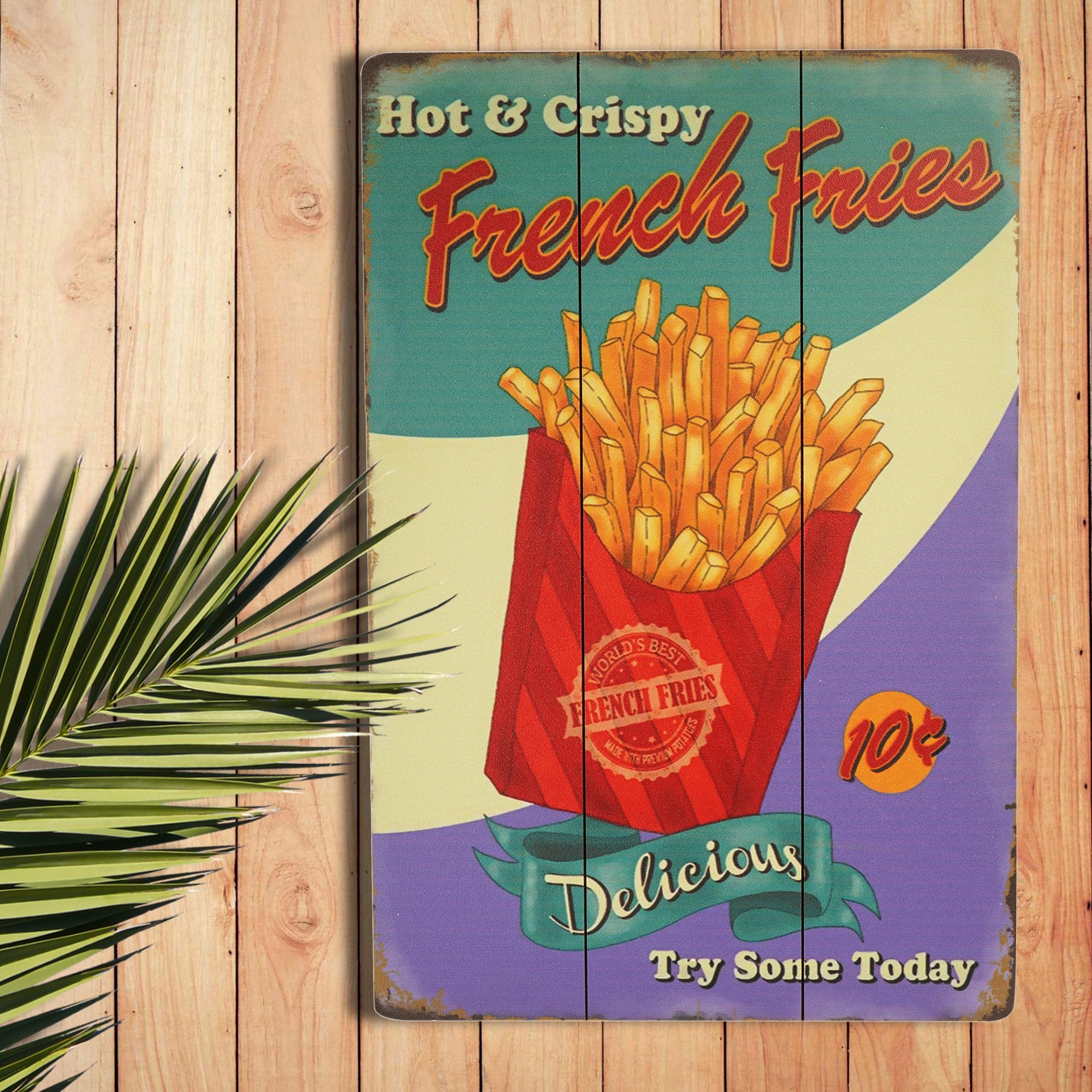 French Fries Wall Plaque from TeakTale Home Decors