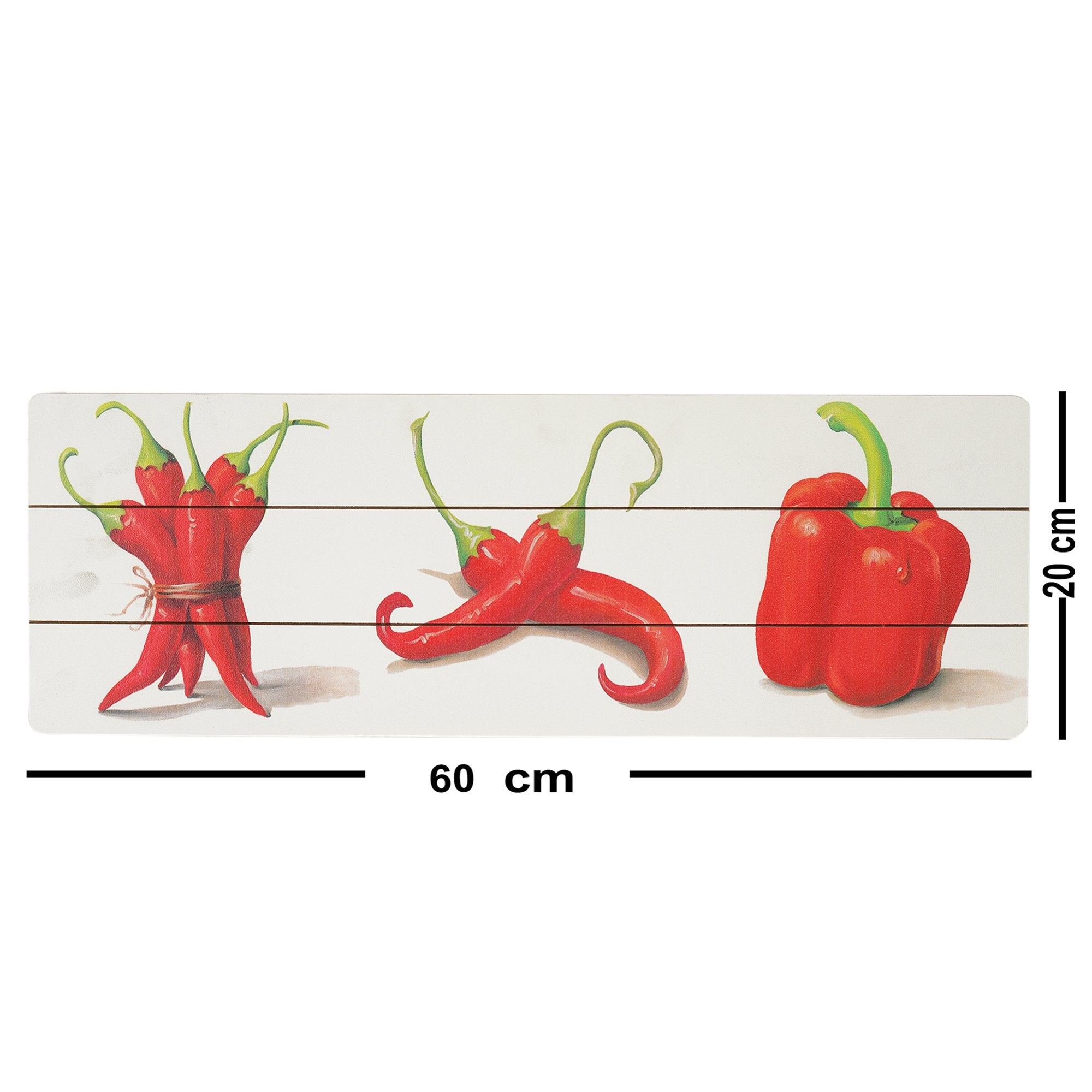 Red Chilli Peppers Wall Plaque from Teaktale Home Decors