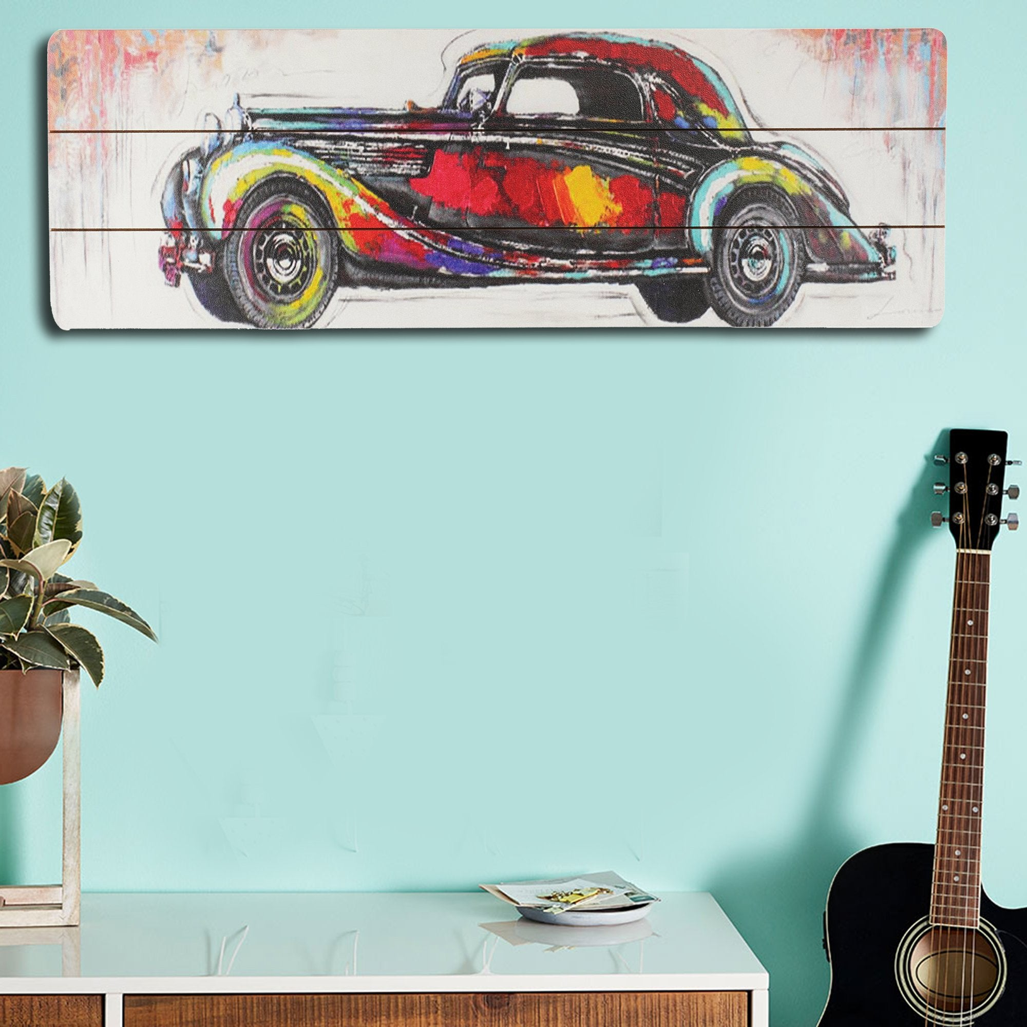 Classic Car Wall Plaque from Teaktale Home Decors