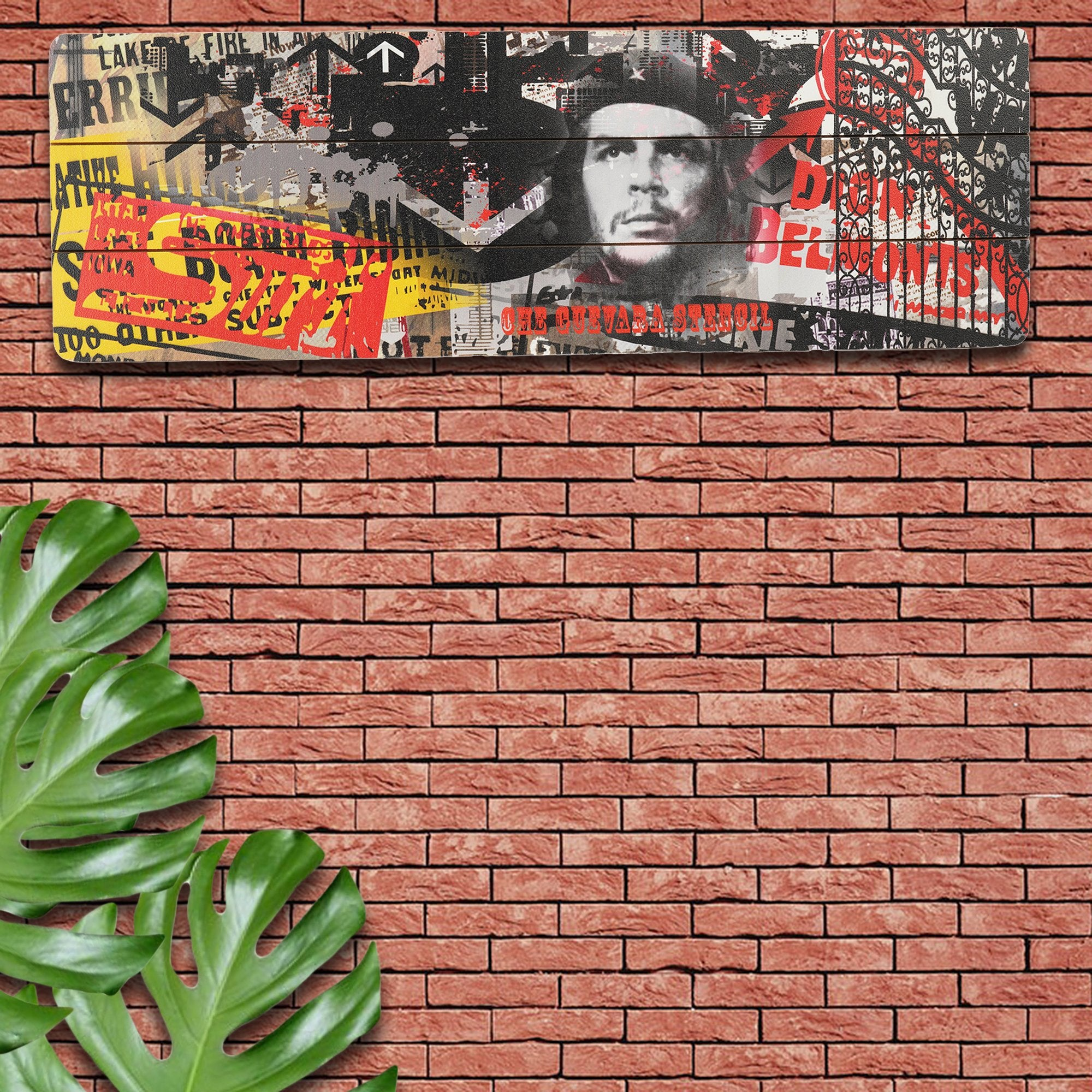 Che Guevara Wooden Wall Plank from Teaktale Home Decors