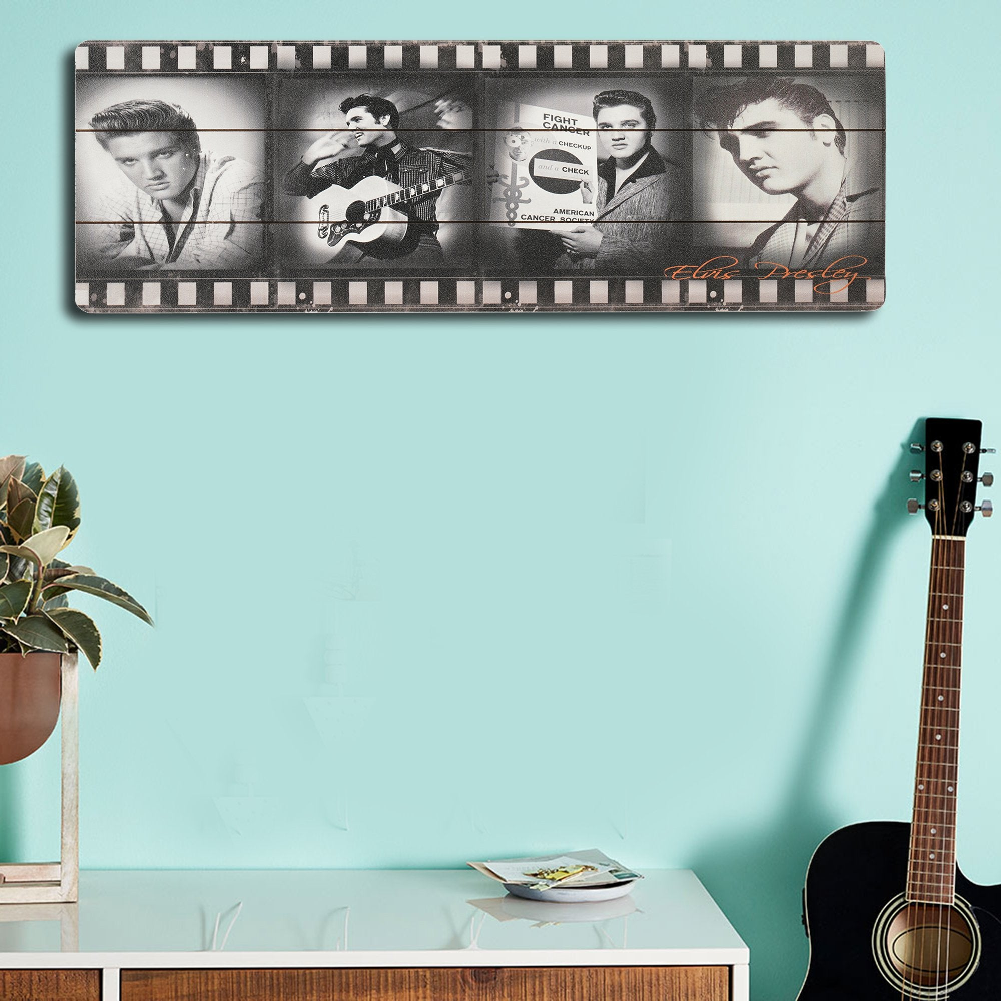 Elvis Presley Wooden Wall Plank from Teak Tale Home Decors