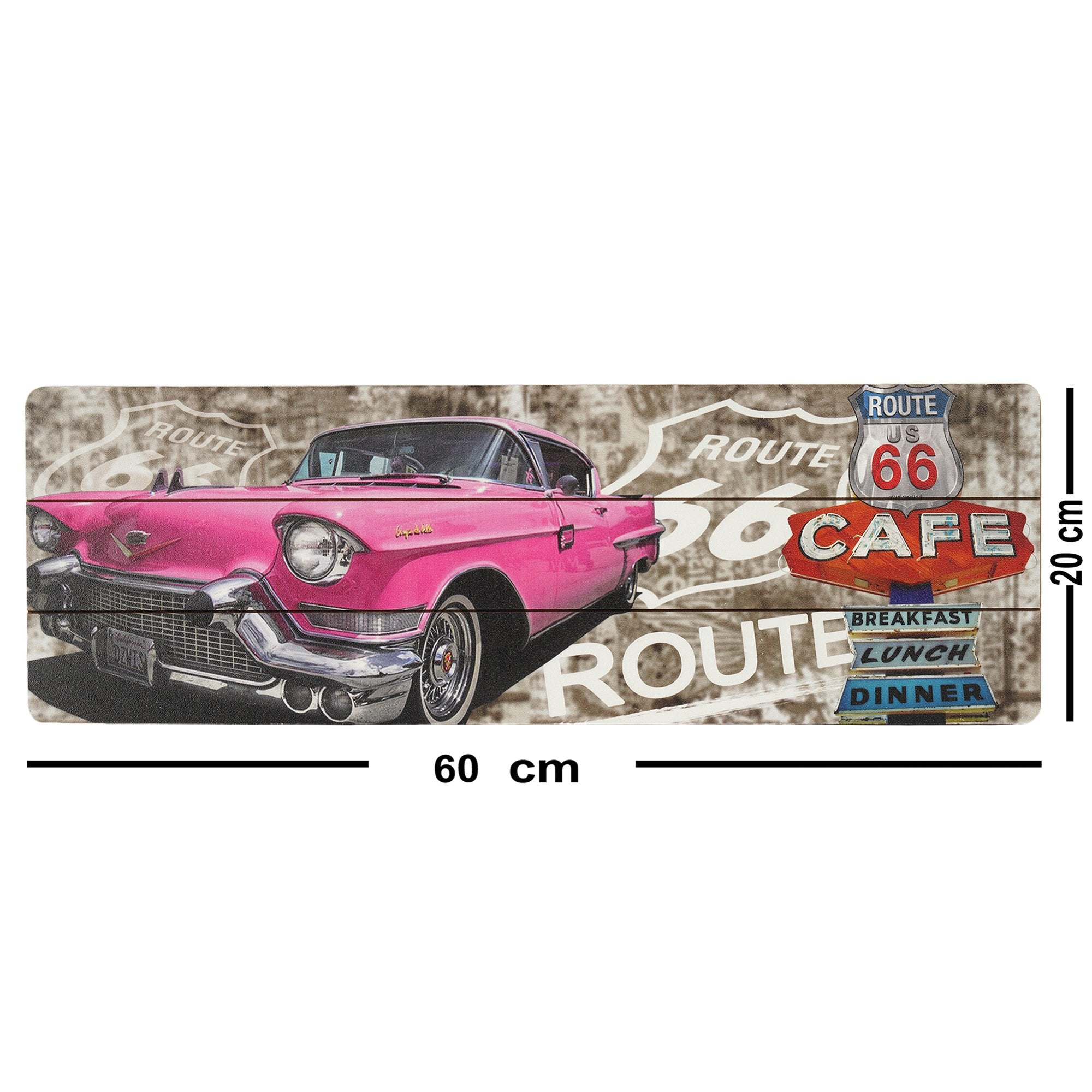 Shiny Pink Car Wall Plaque from Teaktale Home Decors