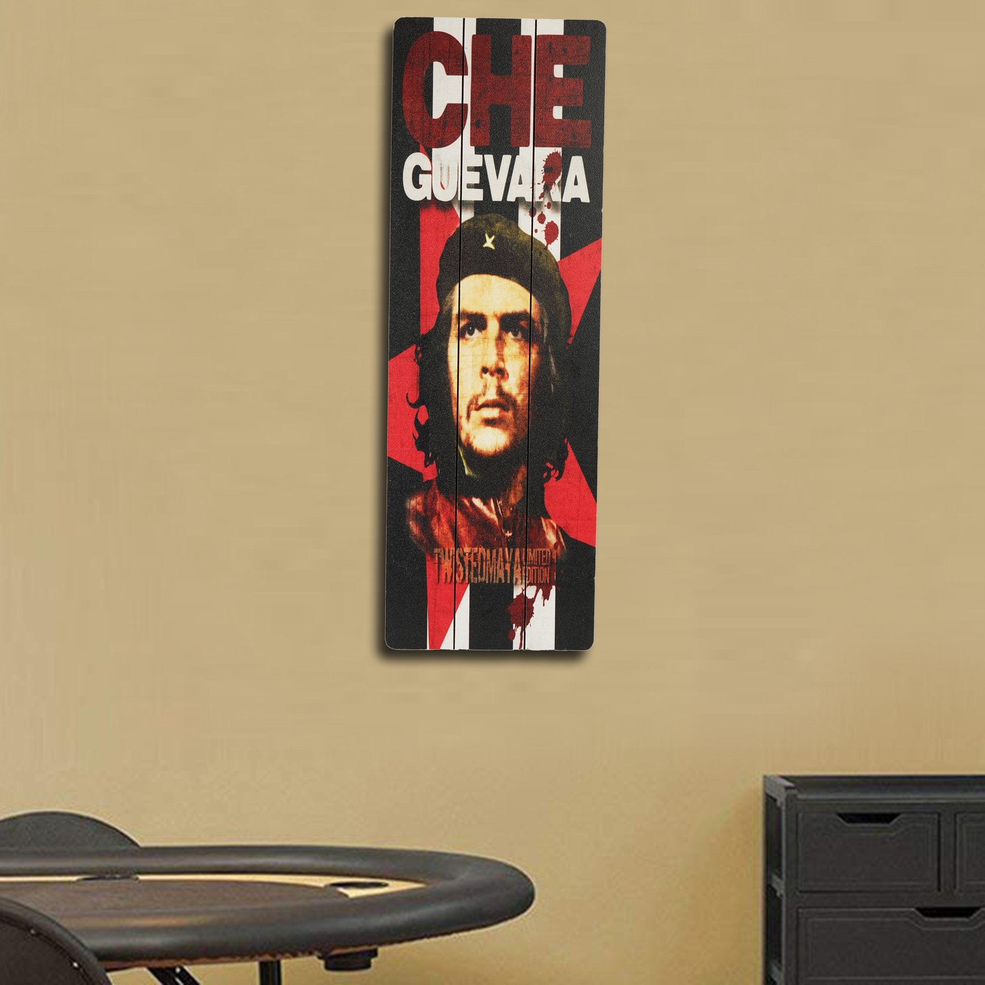Che Guevara Wooden Wall Plaque from Teak Tale HomeDecors