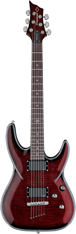 Diamond Barchetta STF Electric Guitar - Black Cherry