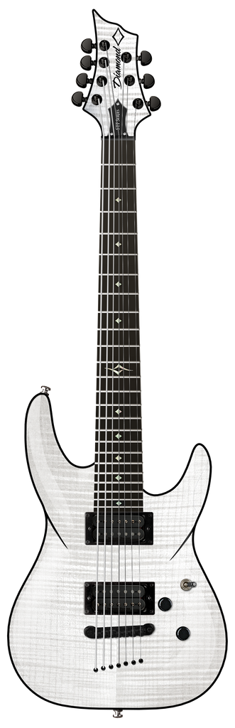 Diamond Barchetta STF 7 String Electric Guitar - Trans White Extended Scale
