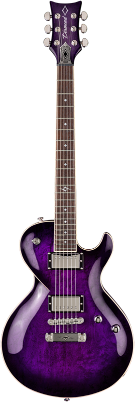 Diamond Bolero EX Birds Eye Maple Electric Guitar - Trans Purple