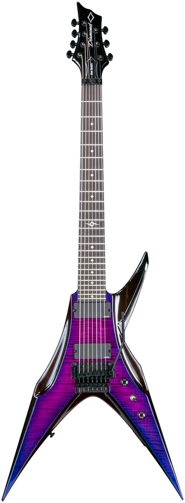 Diamond Bird of Prey FM-FR 7-string Electric Guitar - Ultraviolet