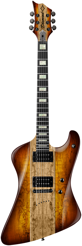 Diamond Hailfire SM Electric Guitar - Trans Carmel