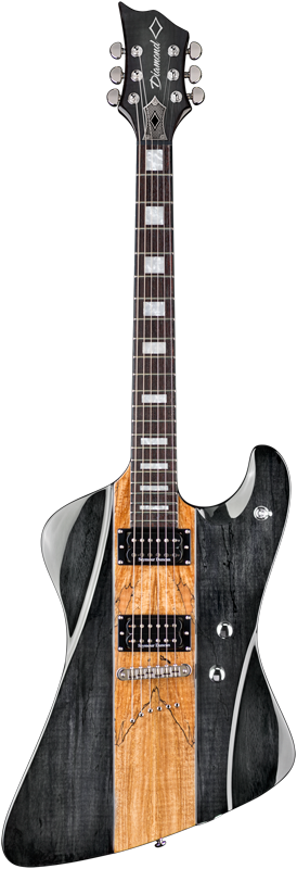 Diamond Hailfire SM Electric Guitar - Trans Charcoal