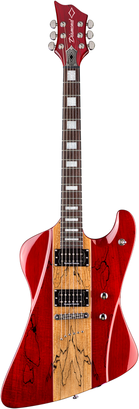 Diamond Guitars Hailfire SM Electric Guitar - Trans Ruby