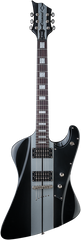 Diamond Hailfire ST Electric Guitar - Black with Silver Stripes